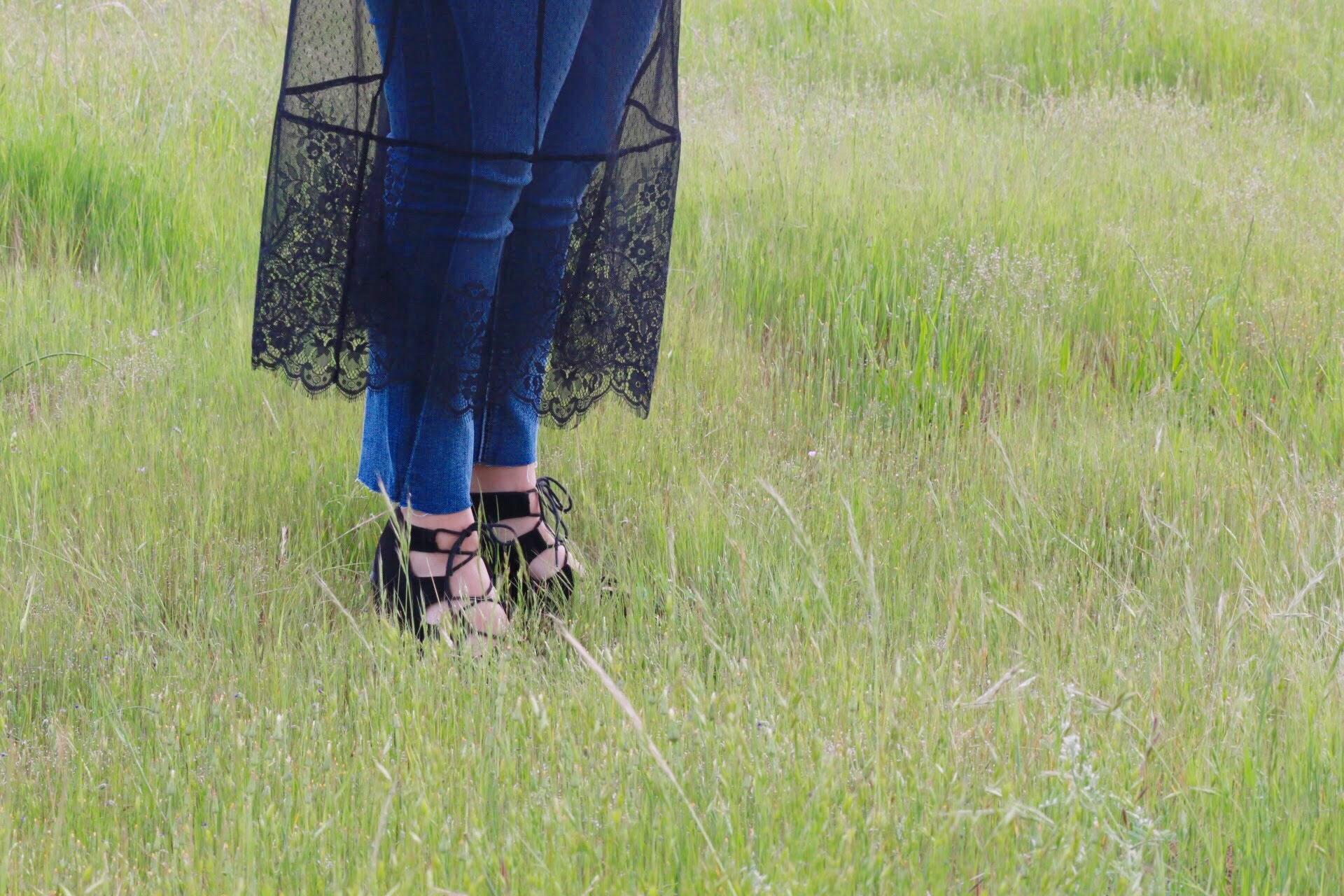 Platform Shoes and Lace Details