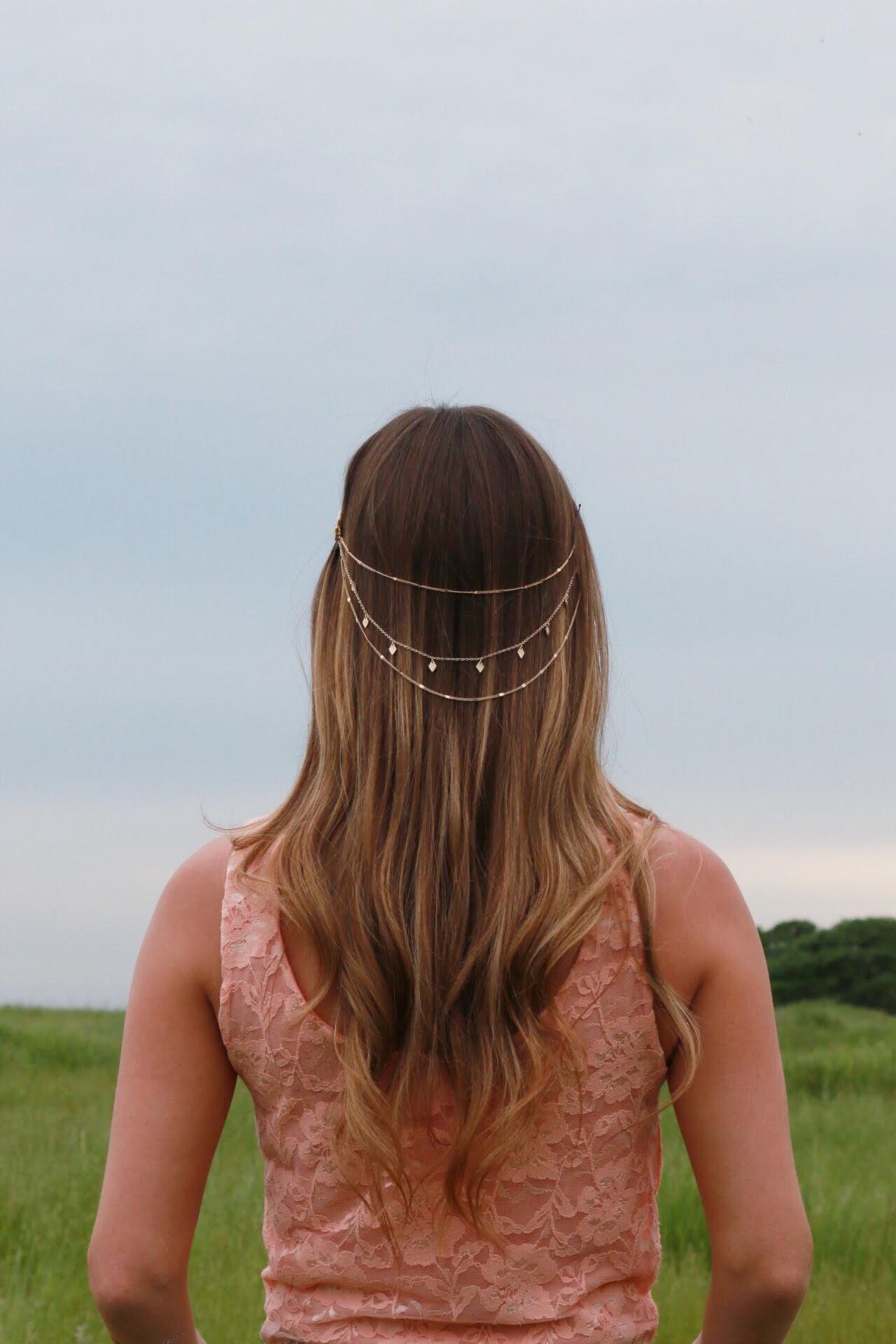 Gold Chain Crown Hair Accessory
