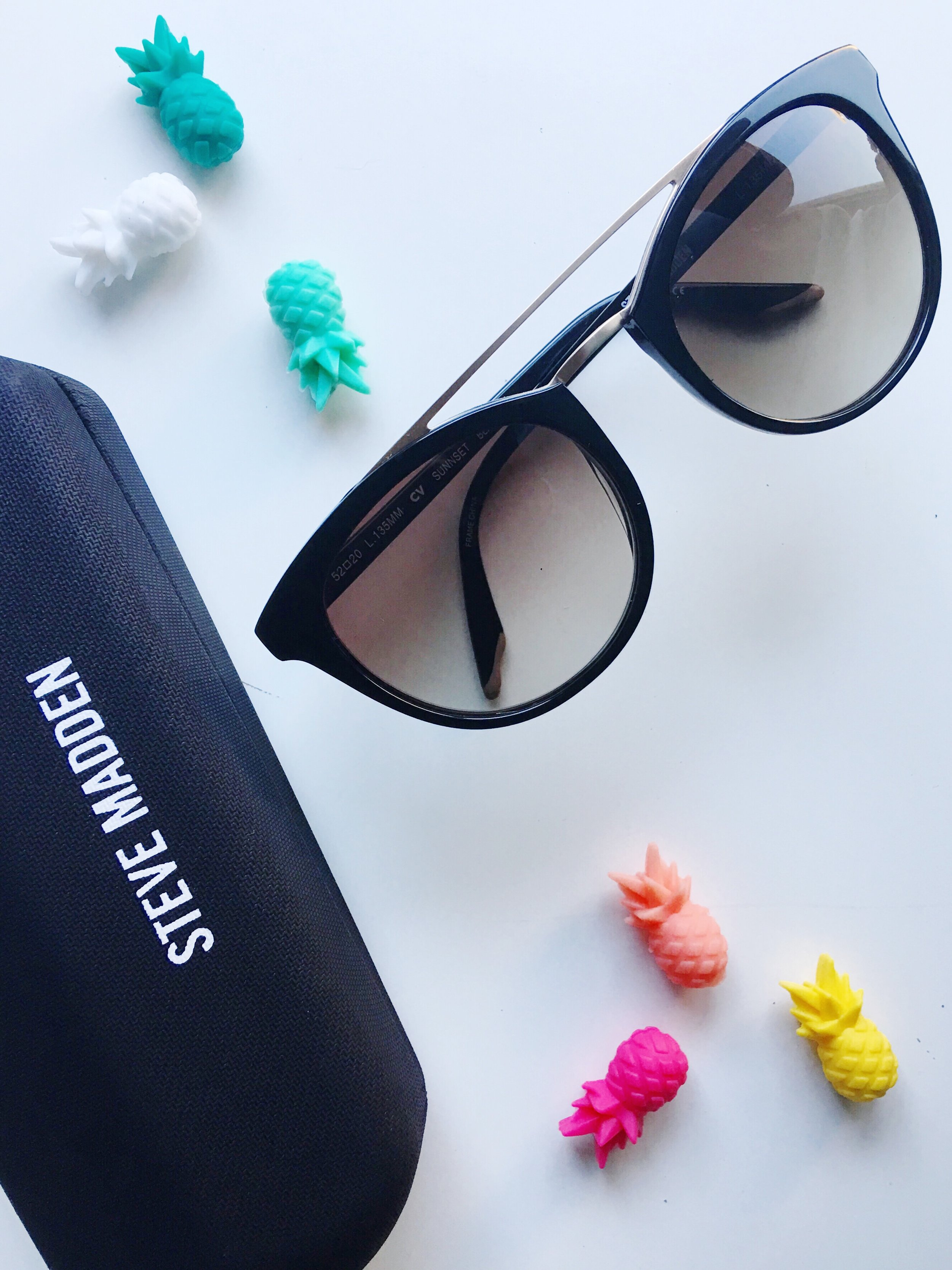 Target Pineapple Drink Markers and Steve Madden Sunglasses