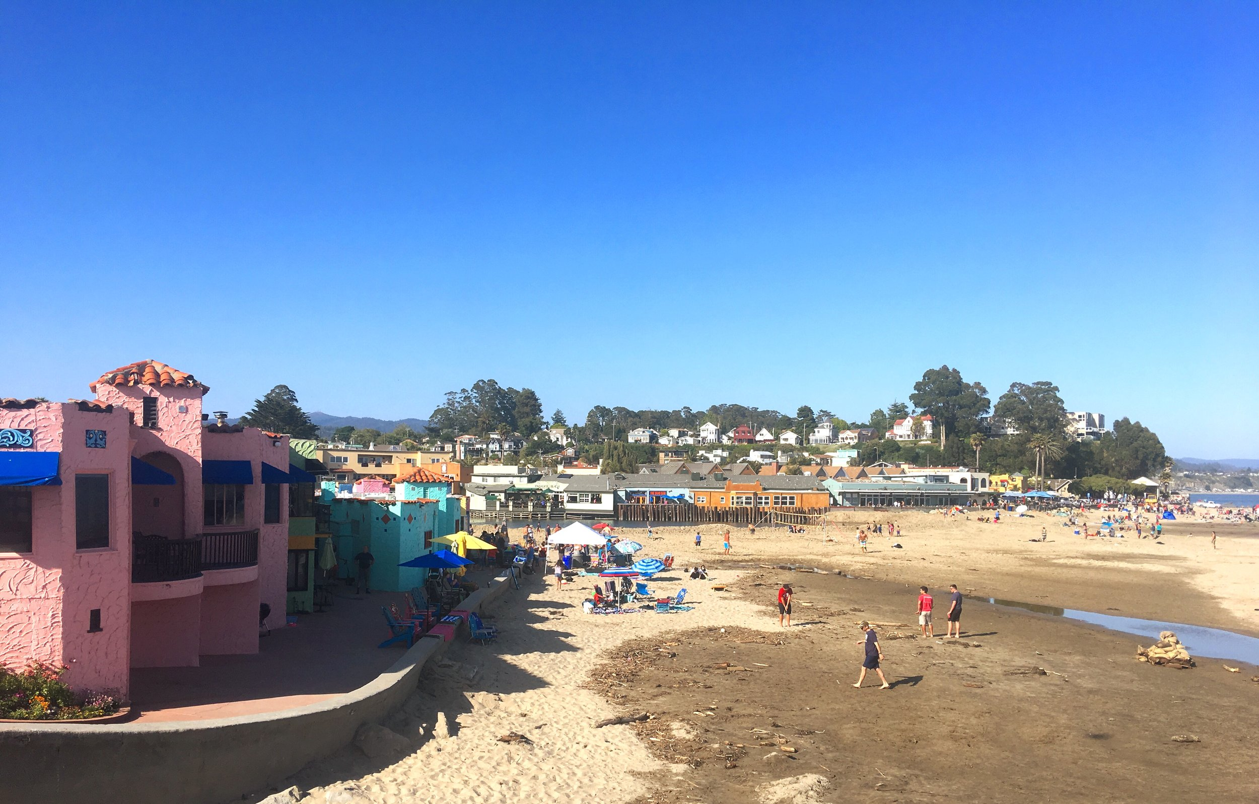 Capitola Beach in California with View of Venetian Hotel