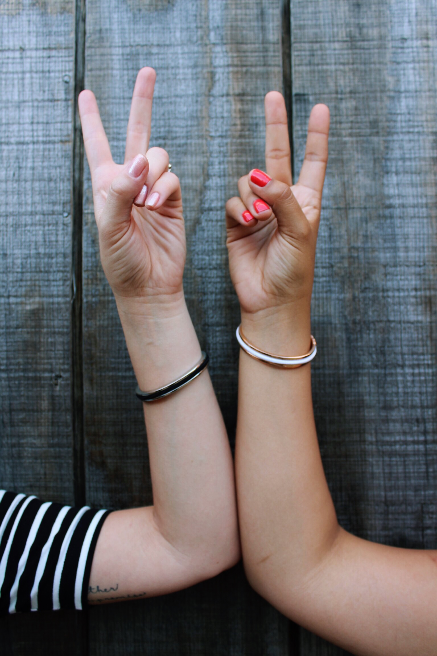 Peace Out with Maria Shireen HairTie Bracelets.