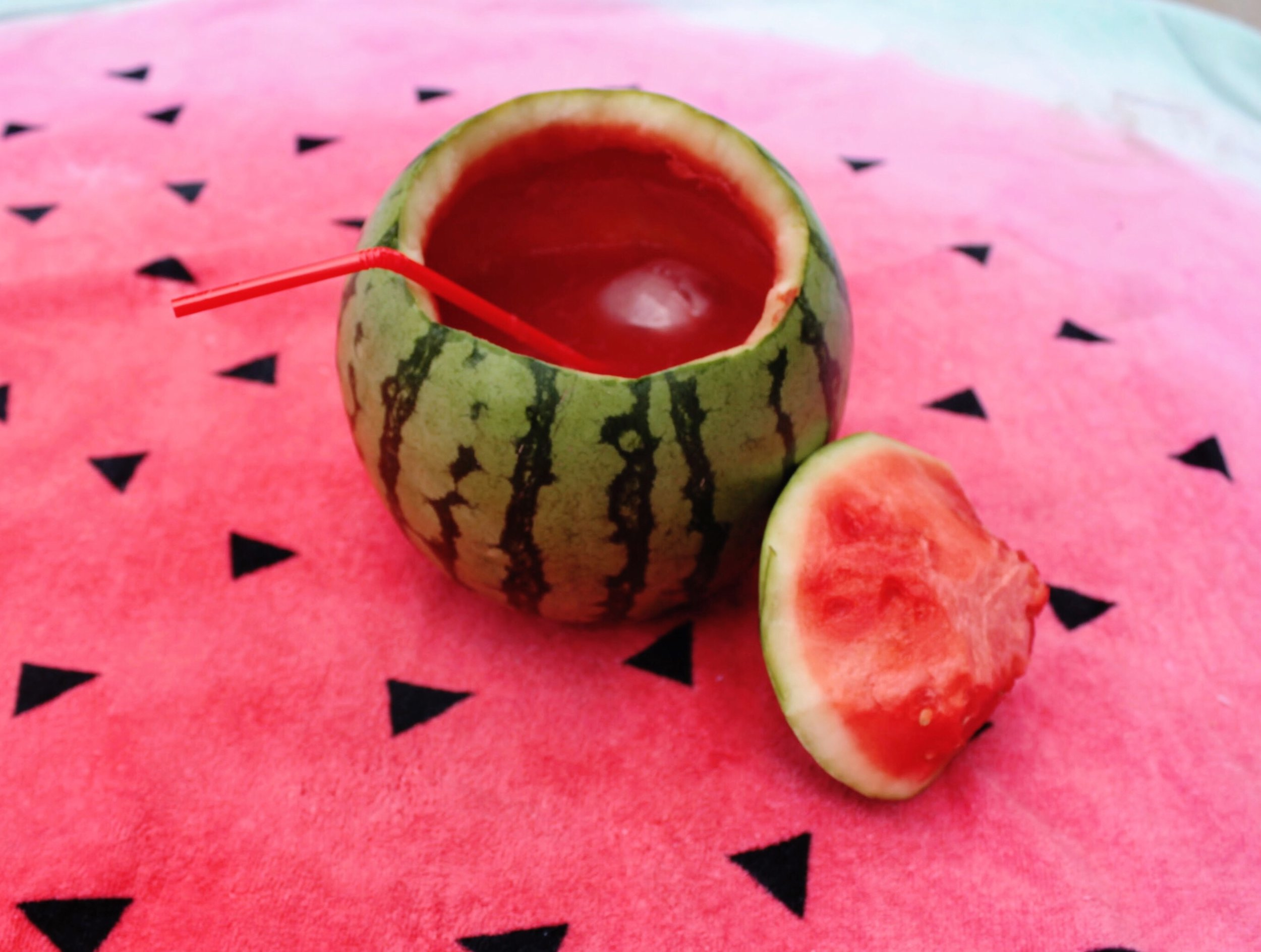 Watermelon Mini Alcoholic Beverage made with Tequila.