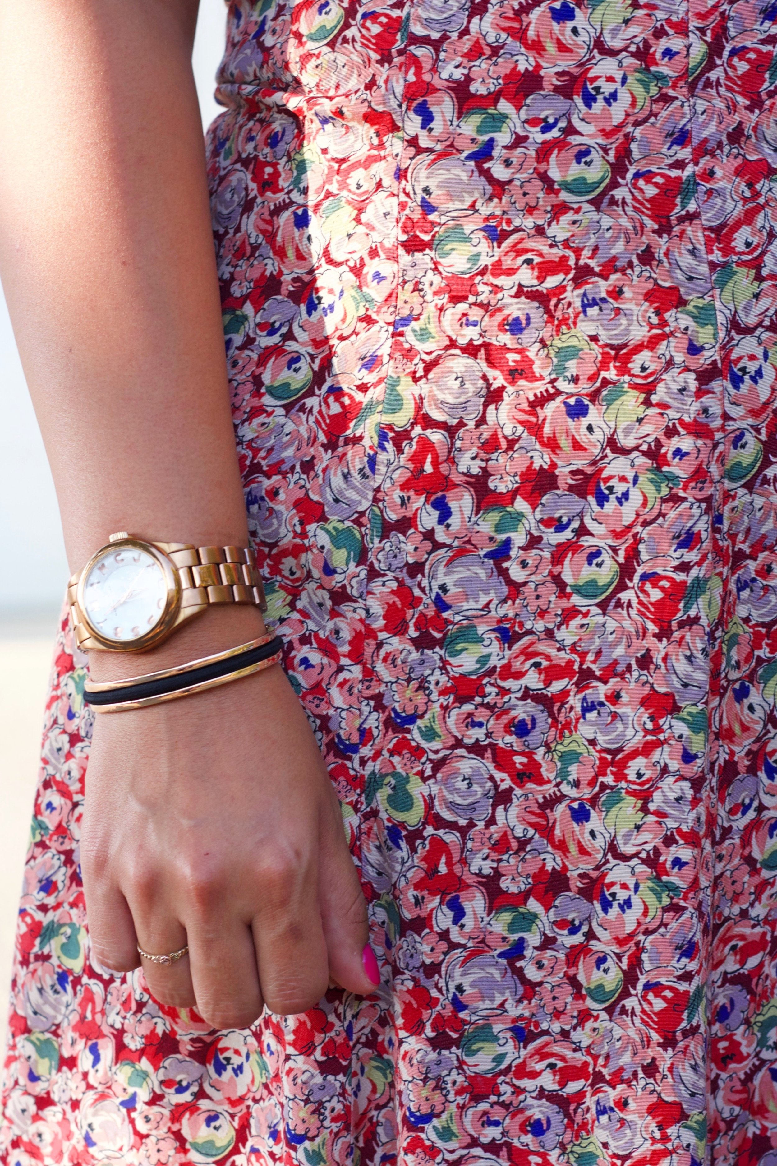 Gold Accessory Details with Recycled Fashion.