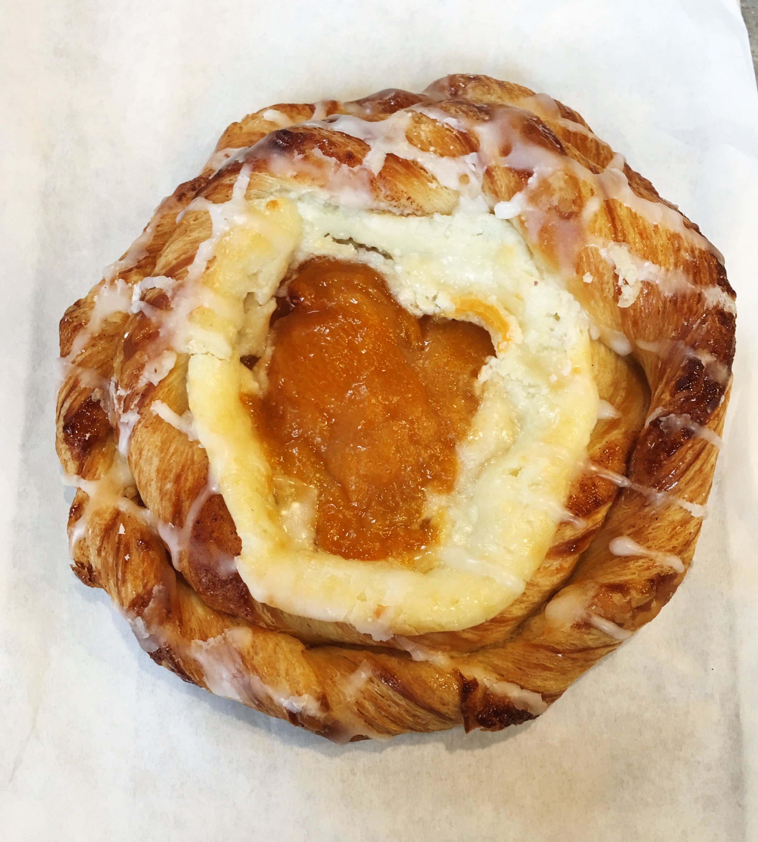 Apricot Danish from The Buttery Cafe in Santa Cruz, California