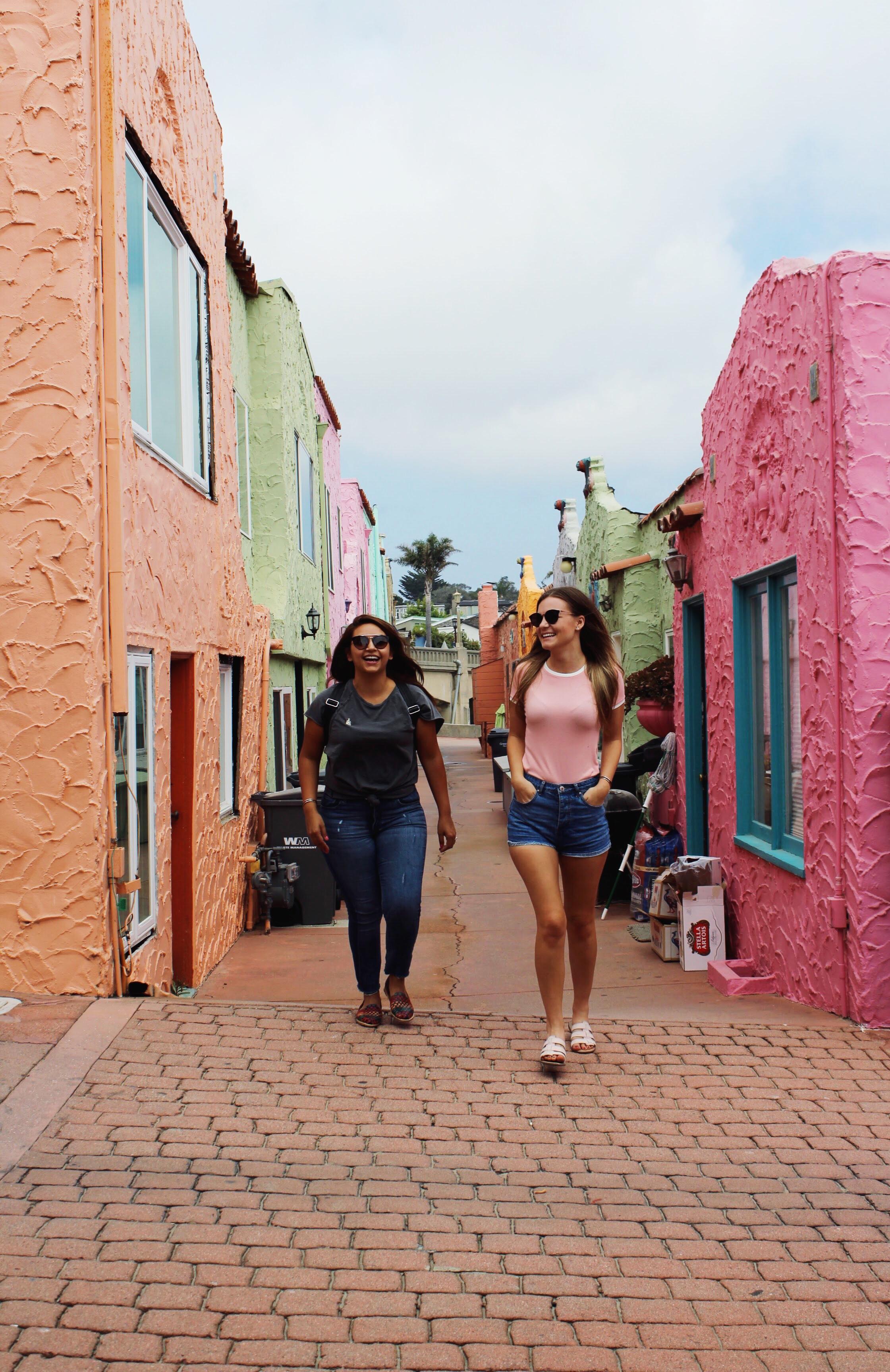 Venetian Hotel Bright Colorful Buildings in Santa Cruz