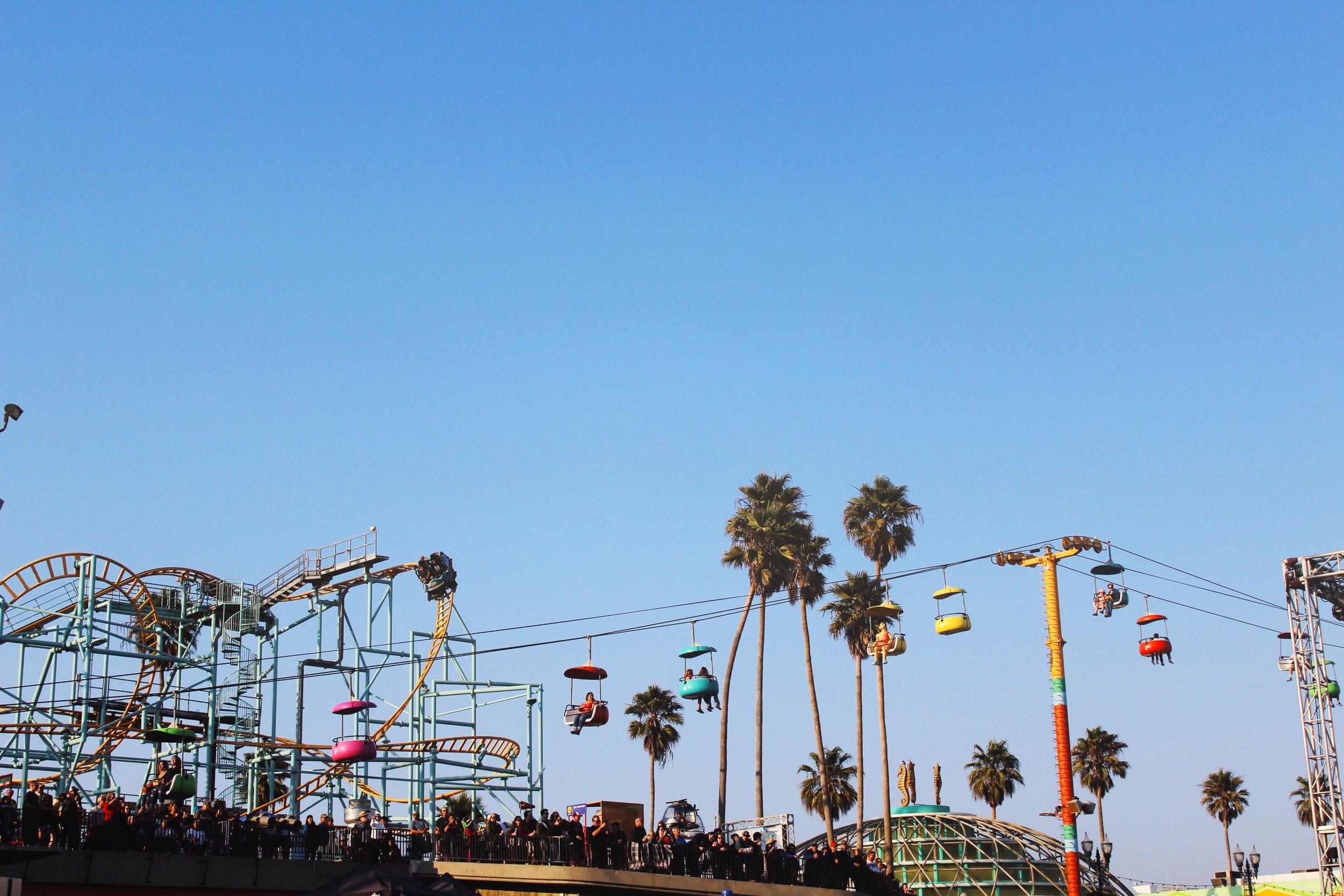 Santa Cruz Beach Boardwalk in the warm California Sun.