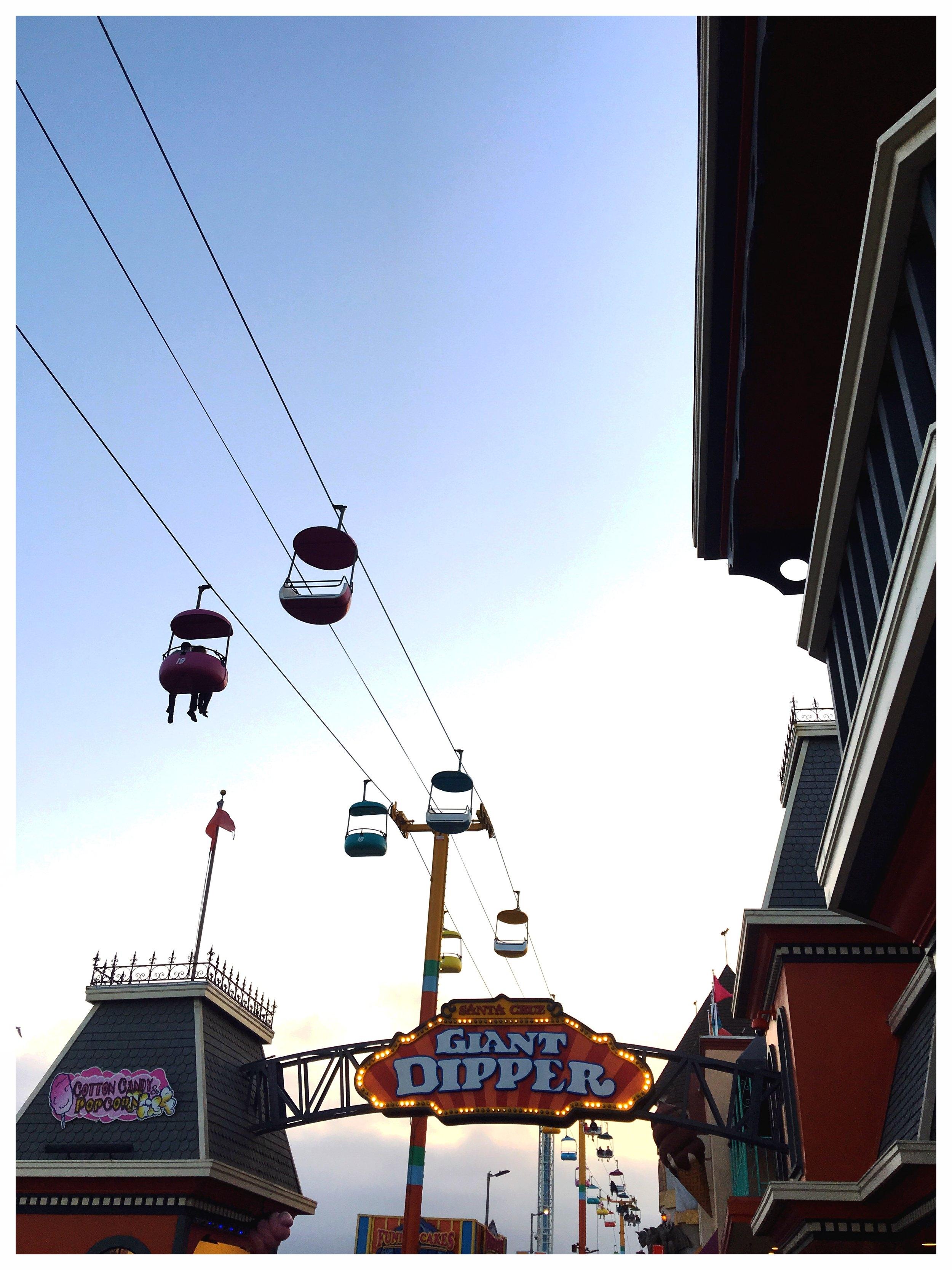 Santa Cruz Giant Dipper Roller Coaster