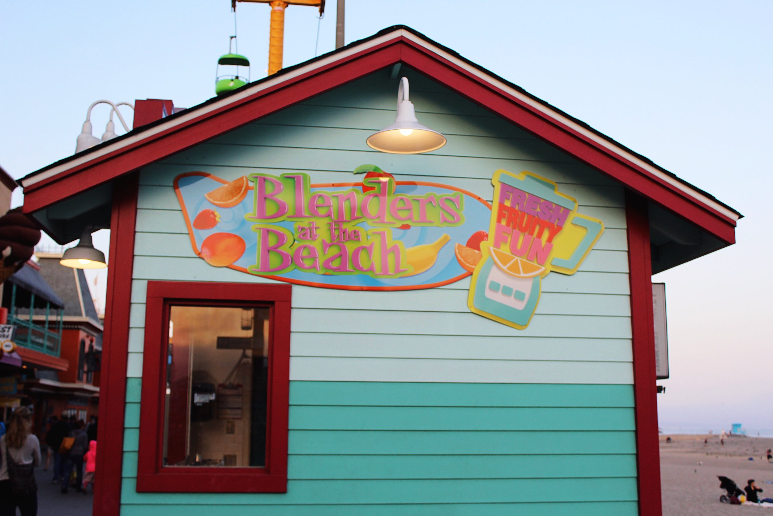 Fresh, Fruity, Fun Smoothie Hut at the Santa Cruz Beach Boardwalk.