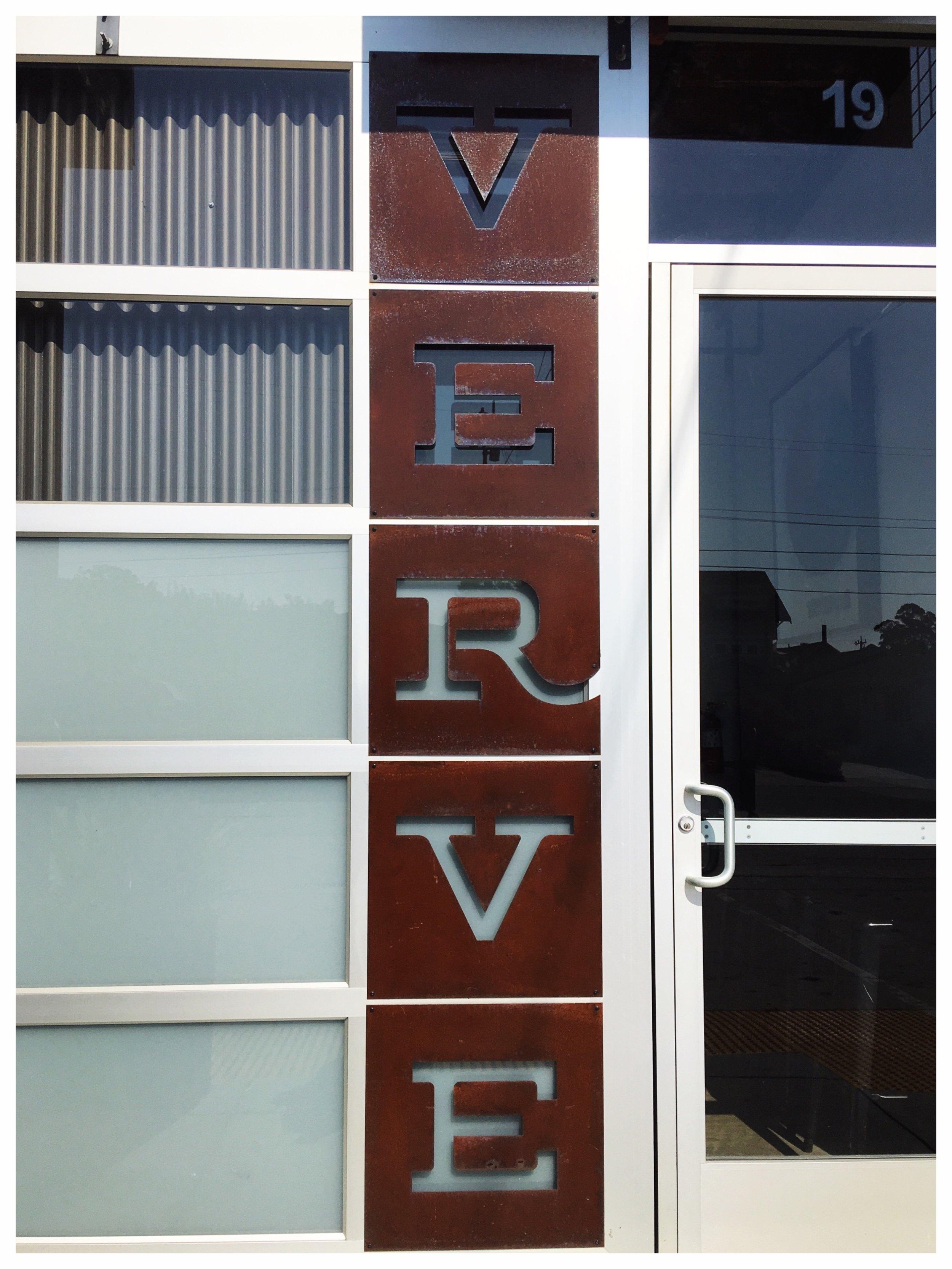 Verve Metal Sign