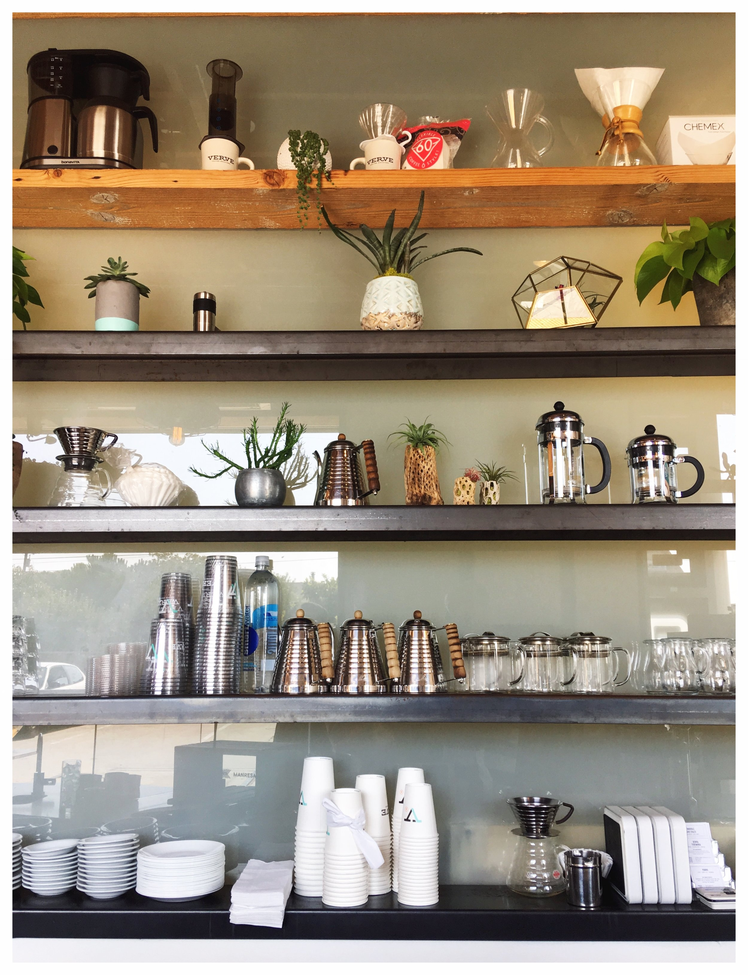 Verve Shelf Display in Warehouse