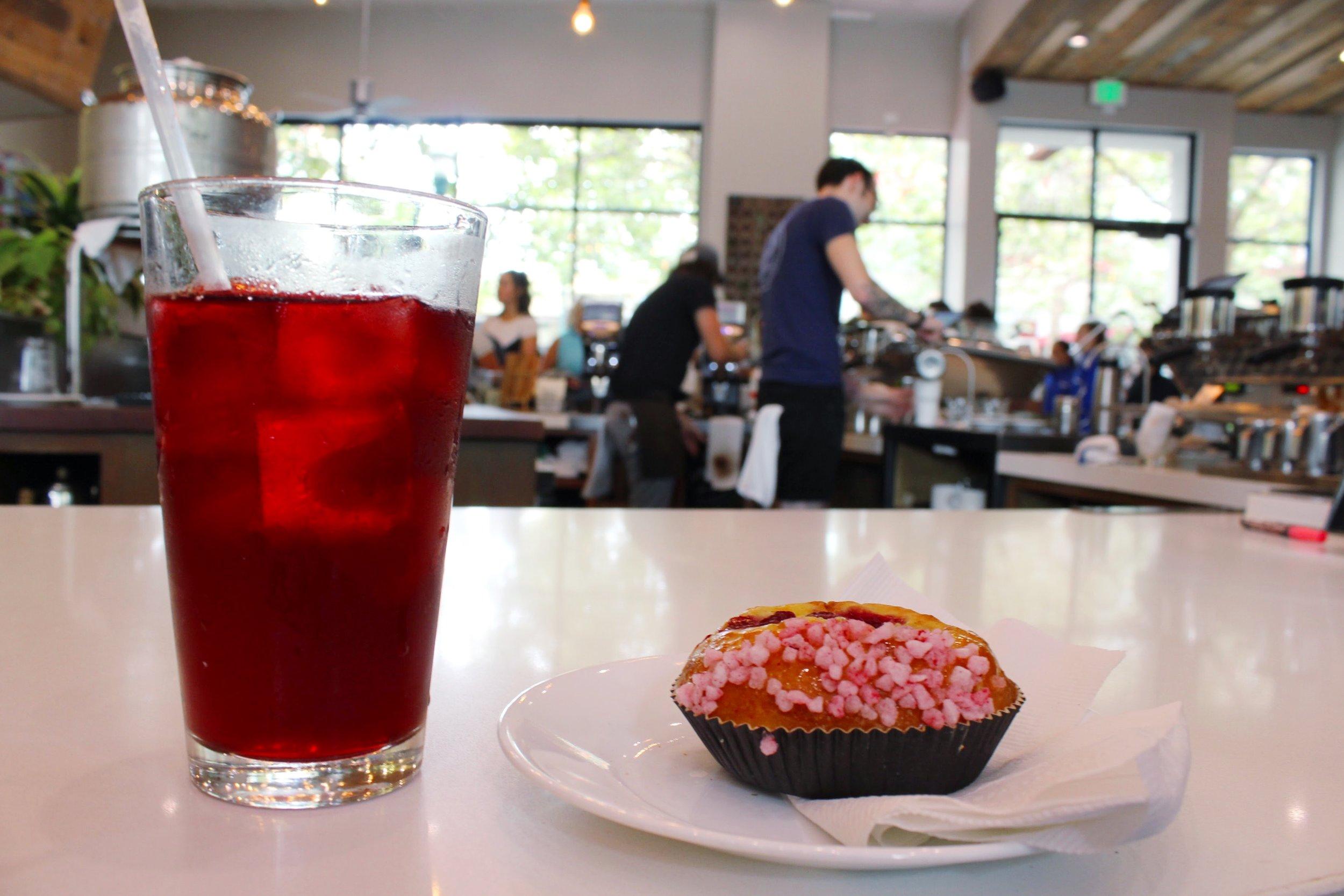 Sparkling Cascara and Raspberry Brioche from Verve Coffee Roasters in Santa Cruz