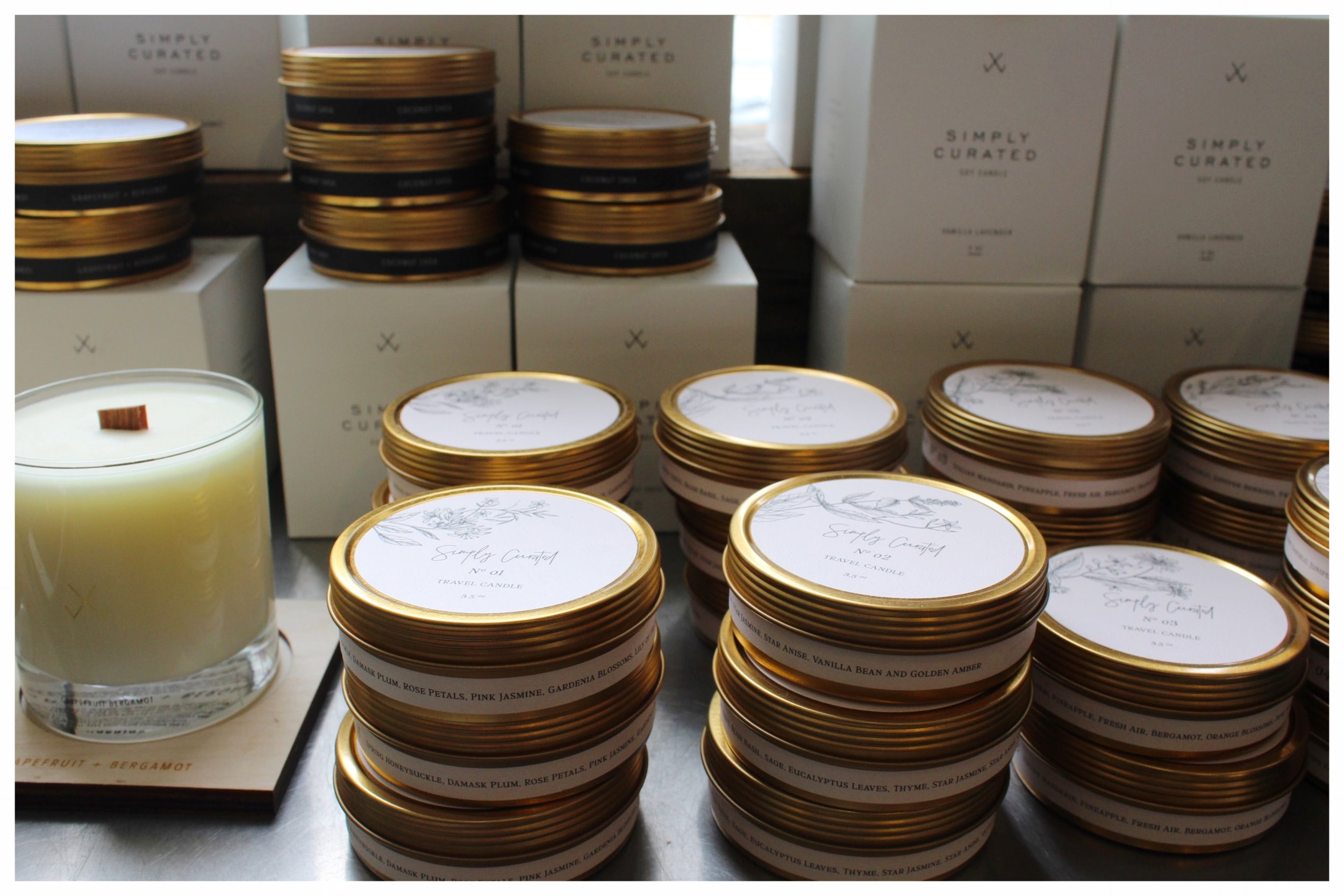 Simply Curated Candle Display