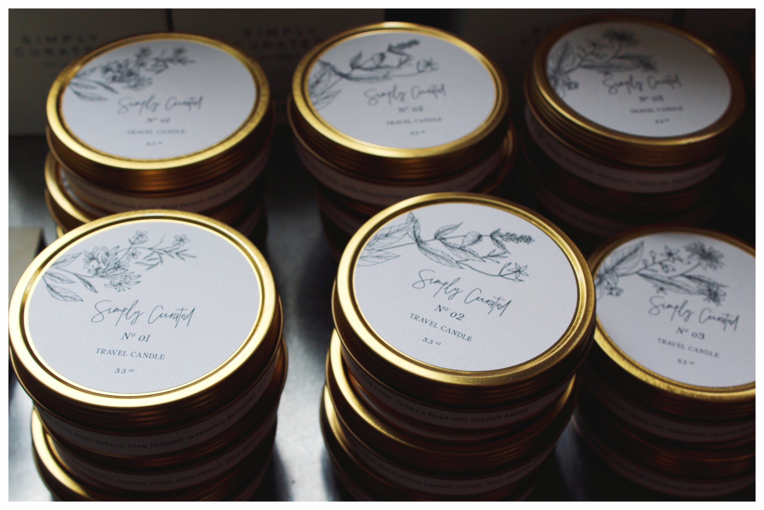 Simply Curated Soy Candles from Michigan