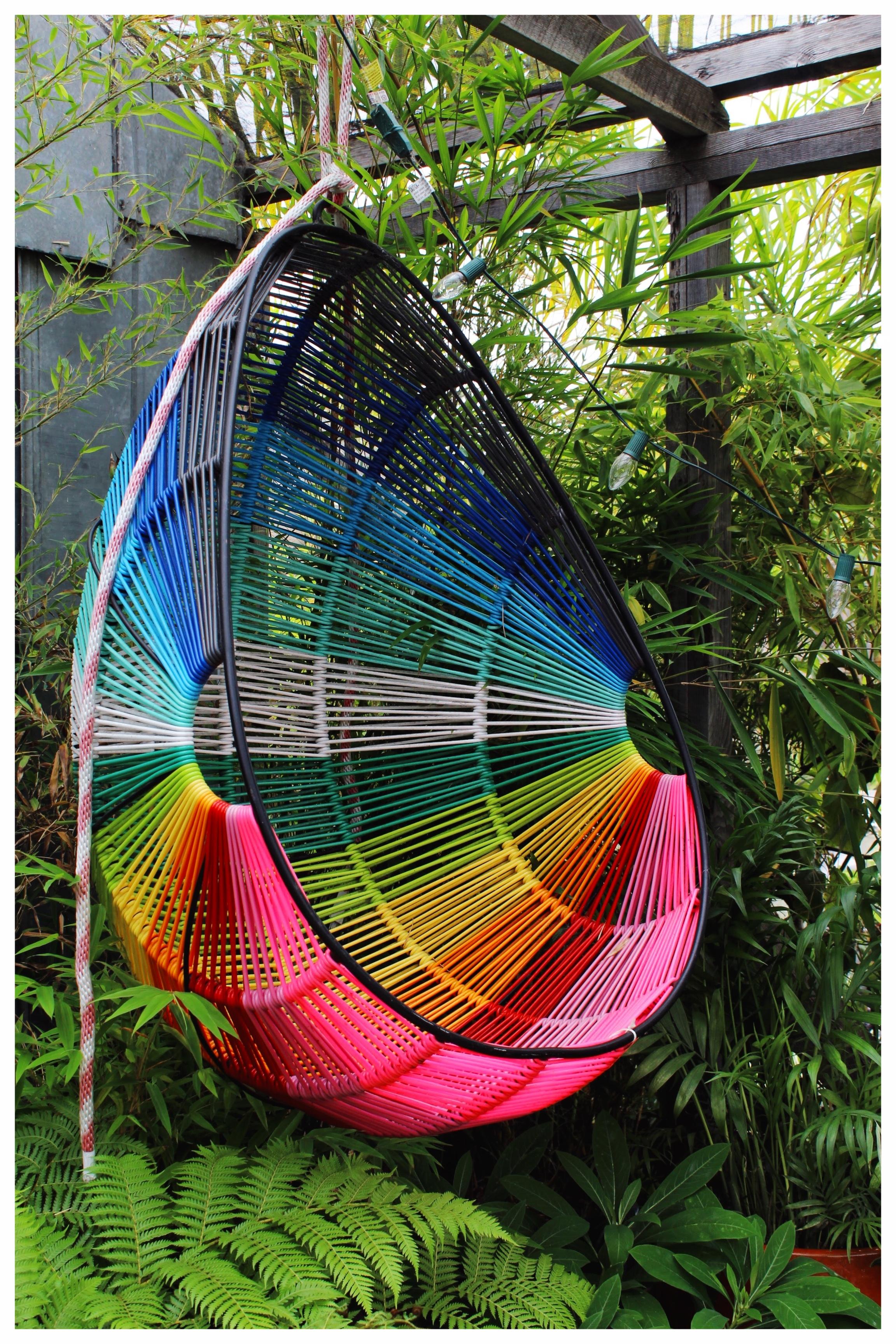 Woven Hanging Rainbow Chair