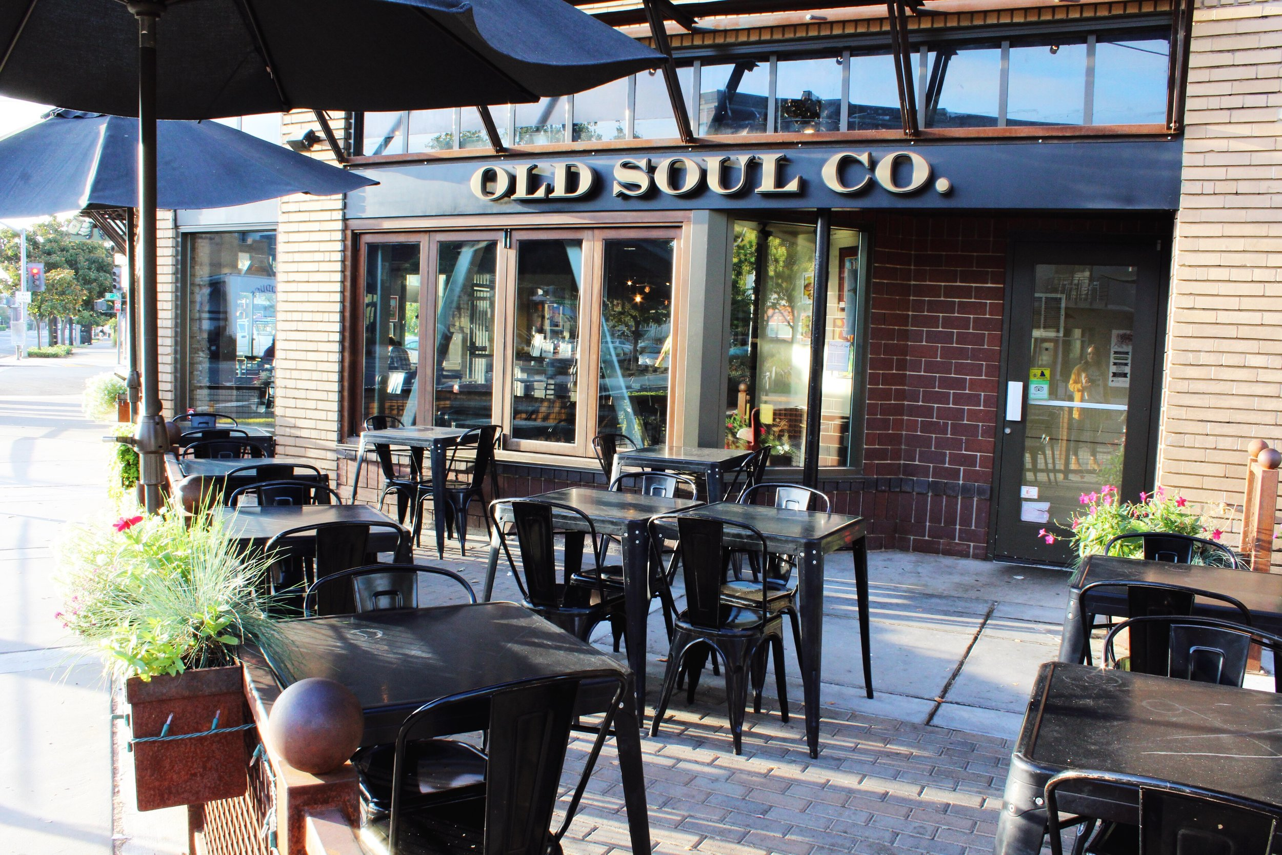 Old Soul Coffee Shop outdoor patio
