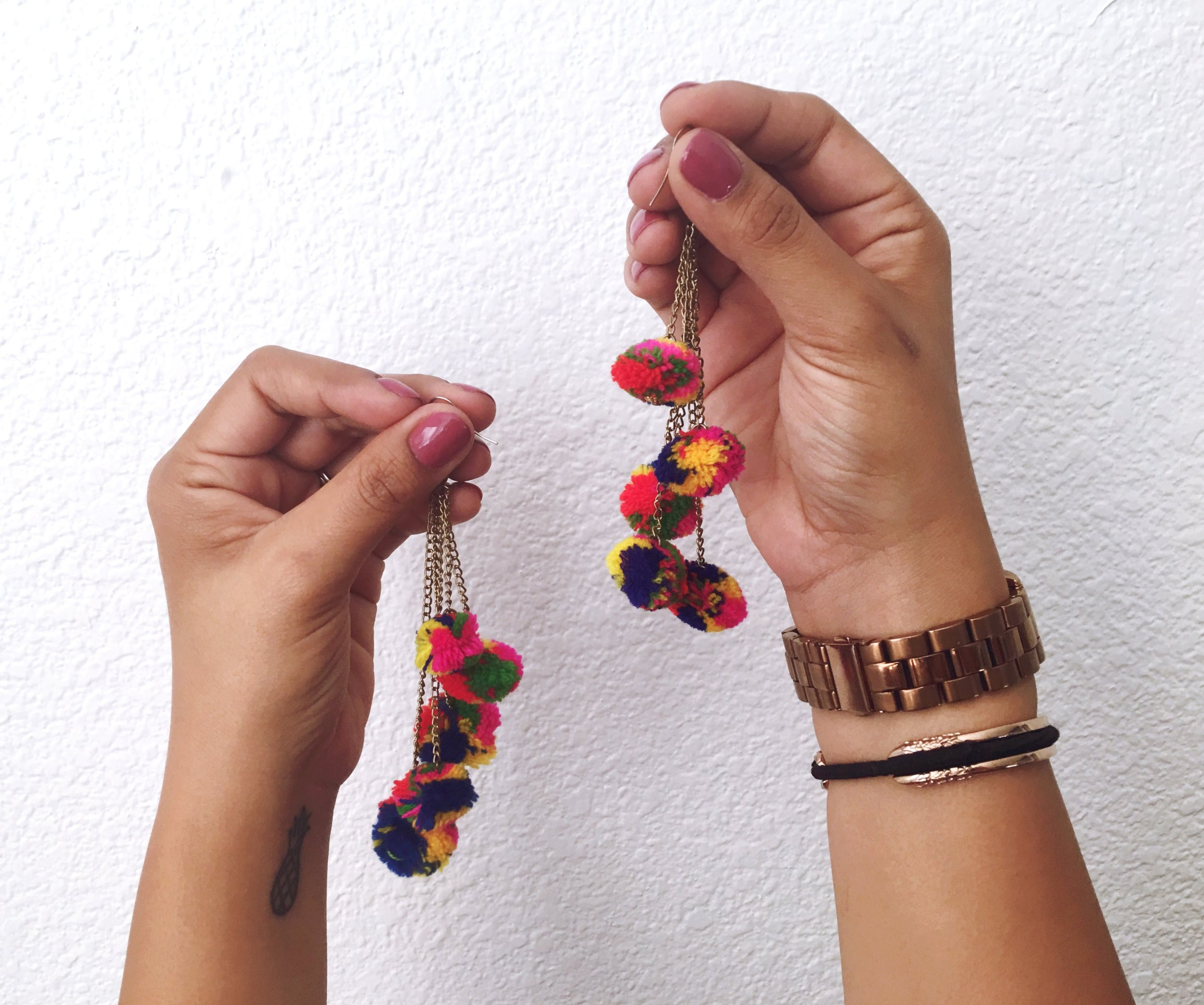 Sol Collective Pom Pom Earrings Maria Shireen Bracelet