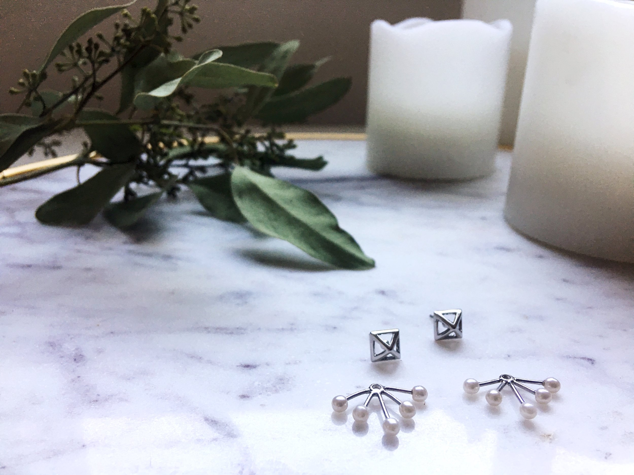 Rebecca Minkoff pyramid Earrings