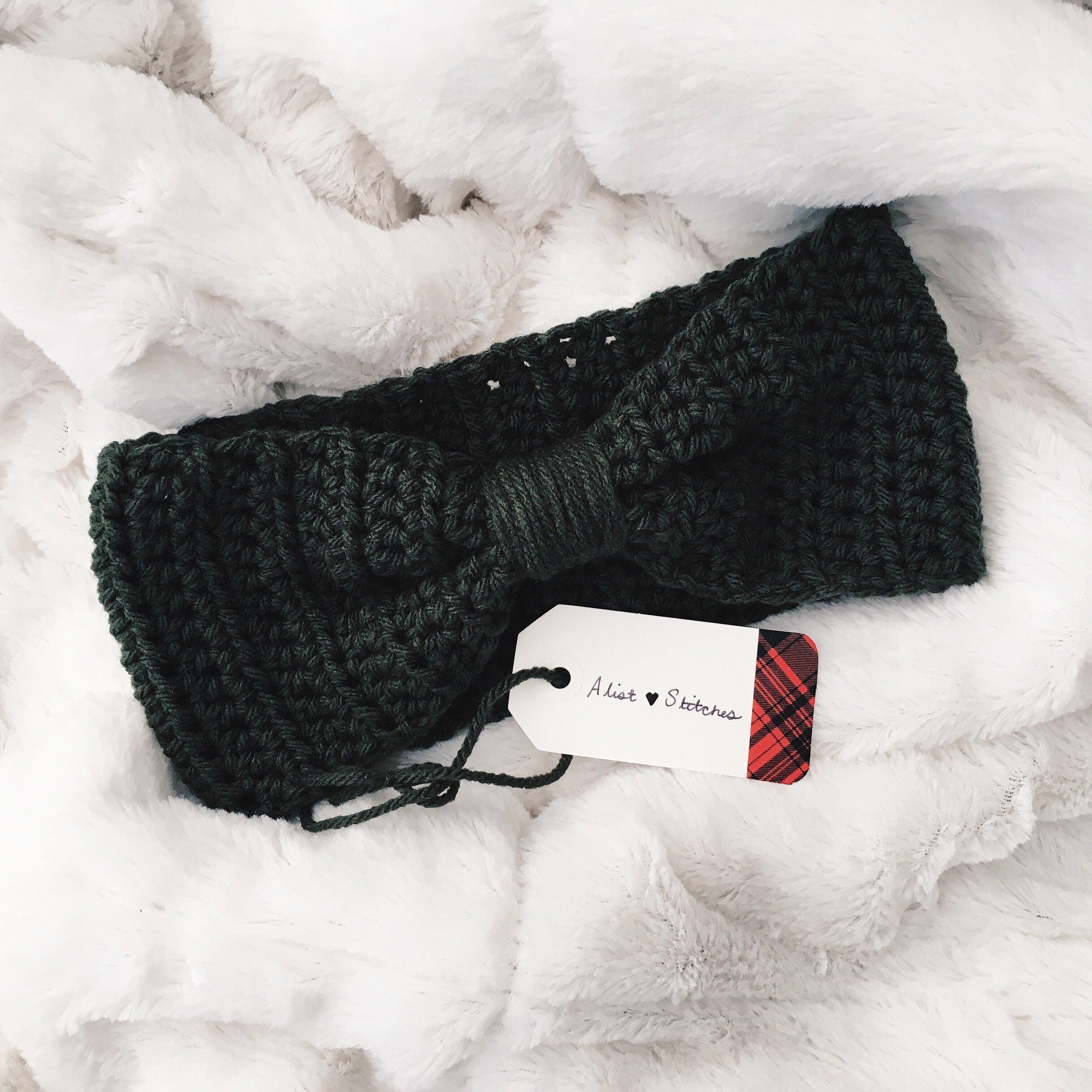 AlistStitches crochet ear band