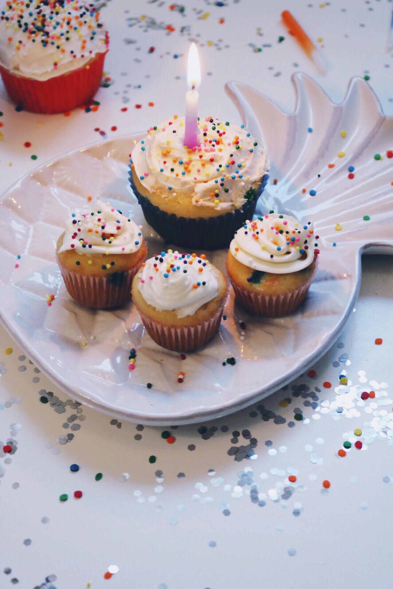 Happy Birthday sprinkle cupcake