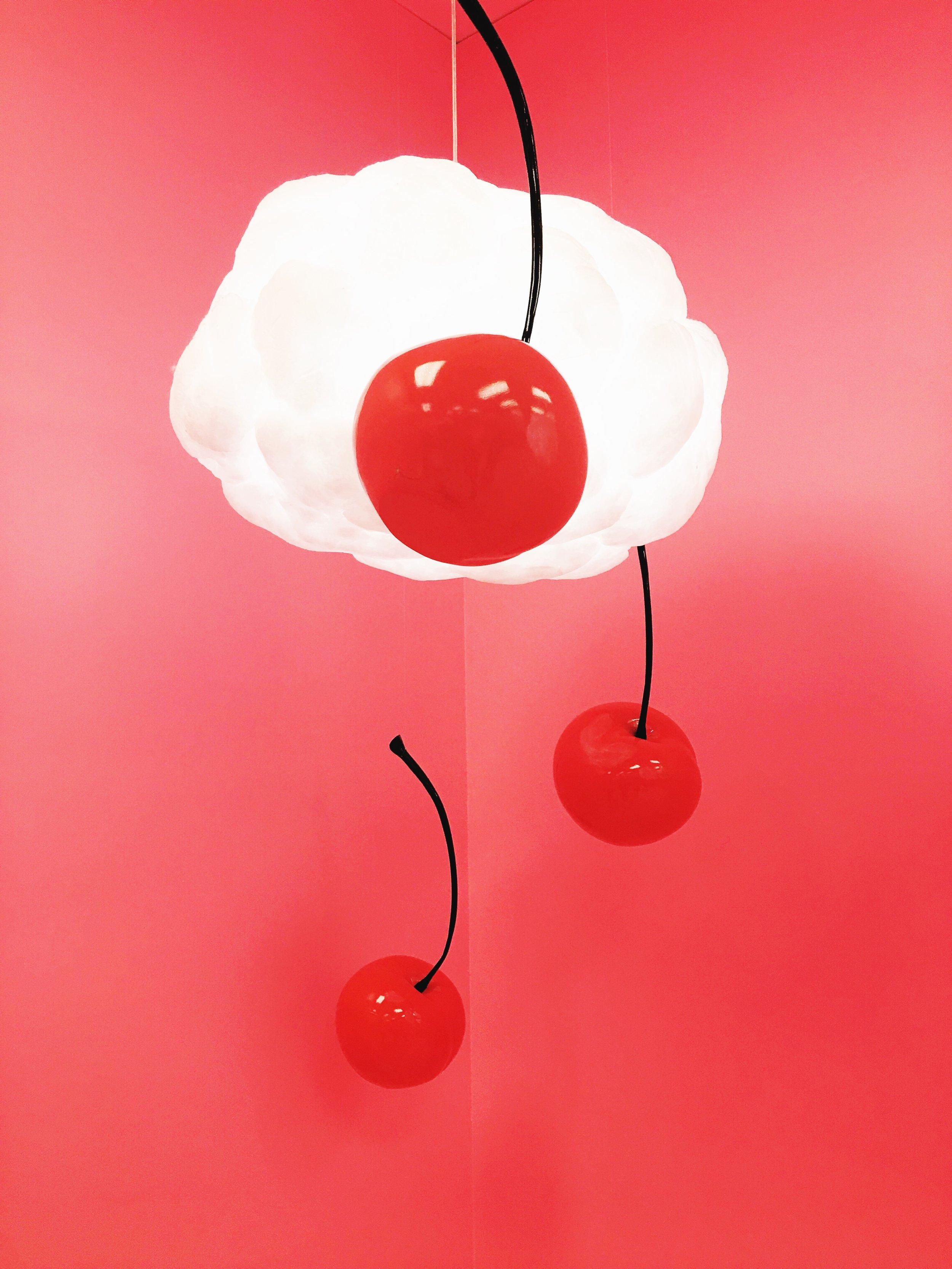 Cherries, clouds, Museum of ice cream