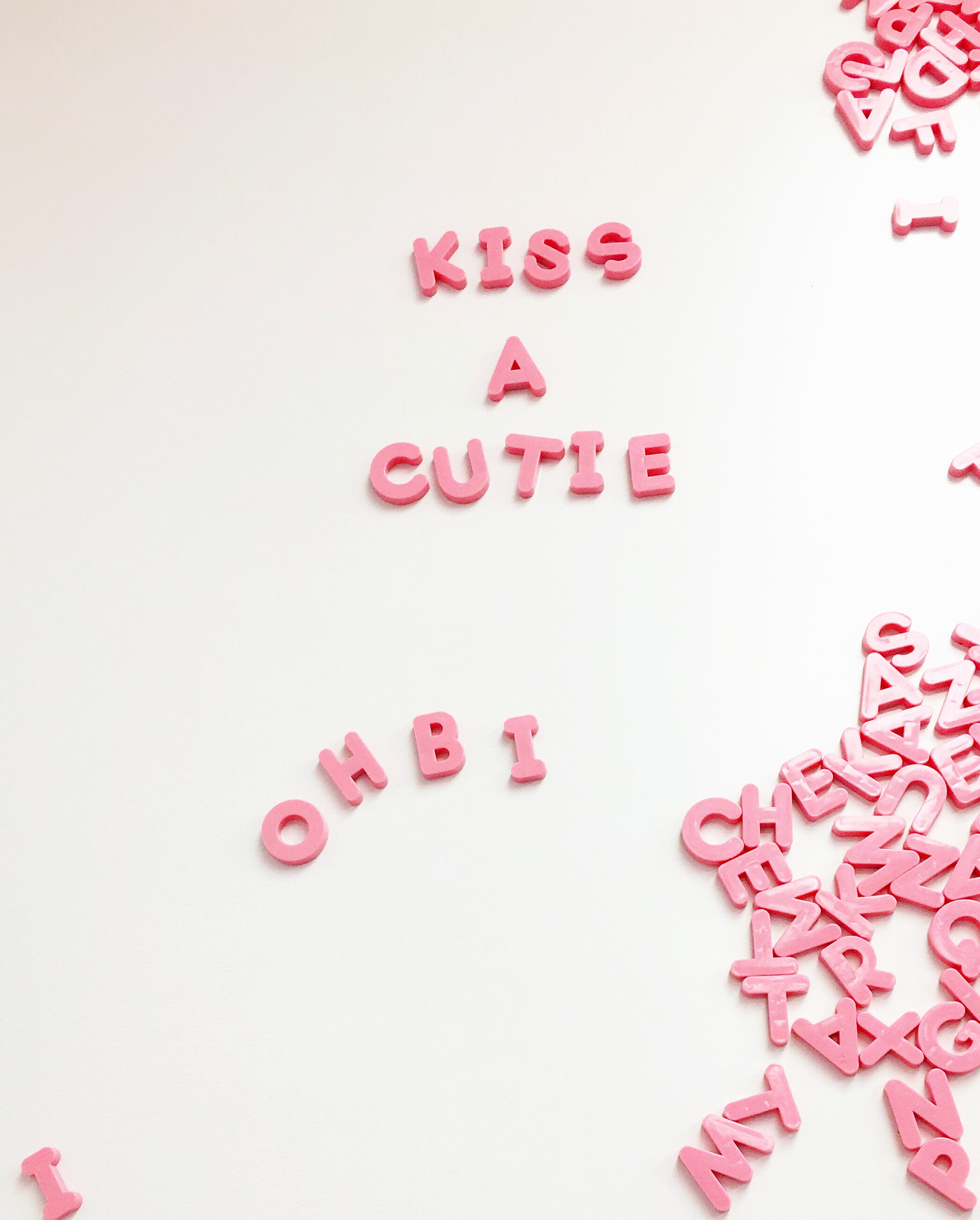 Pink Magnetic letters