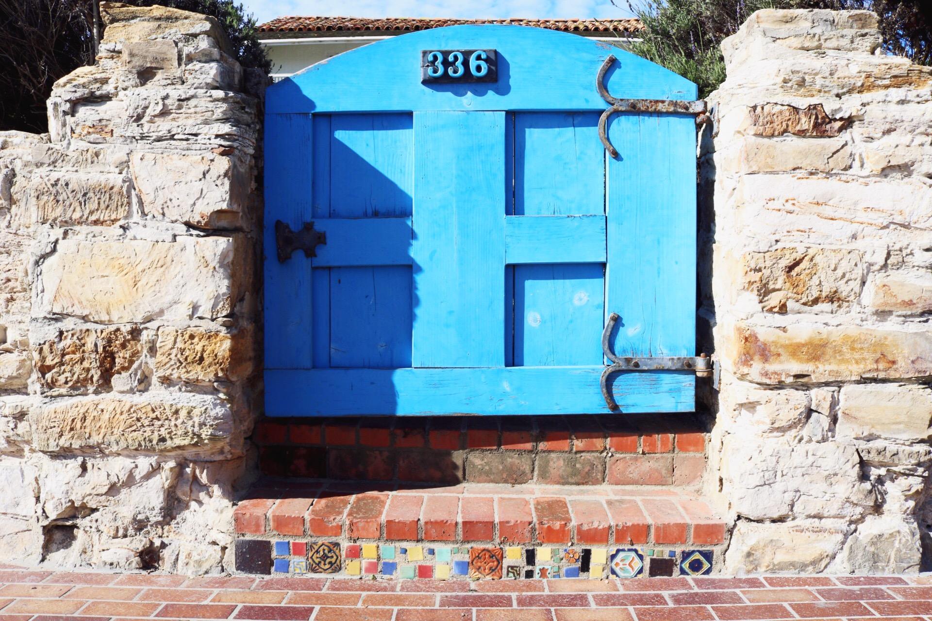 Monterey Beach California Blue Door Casa Soberanes