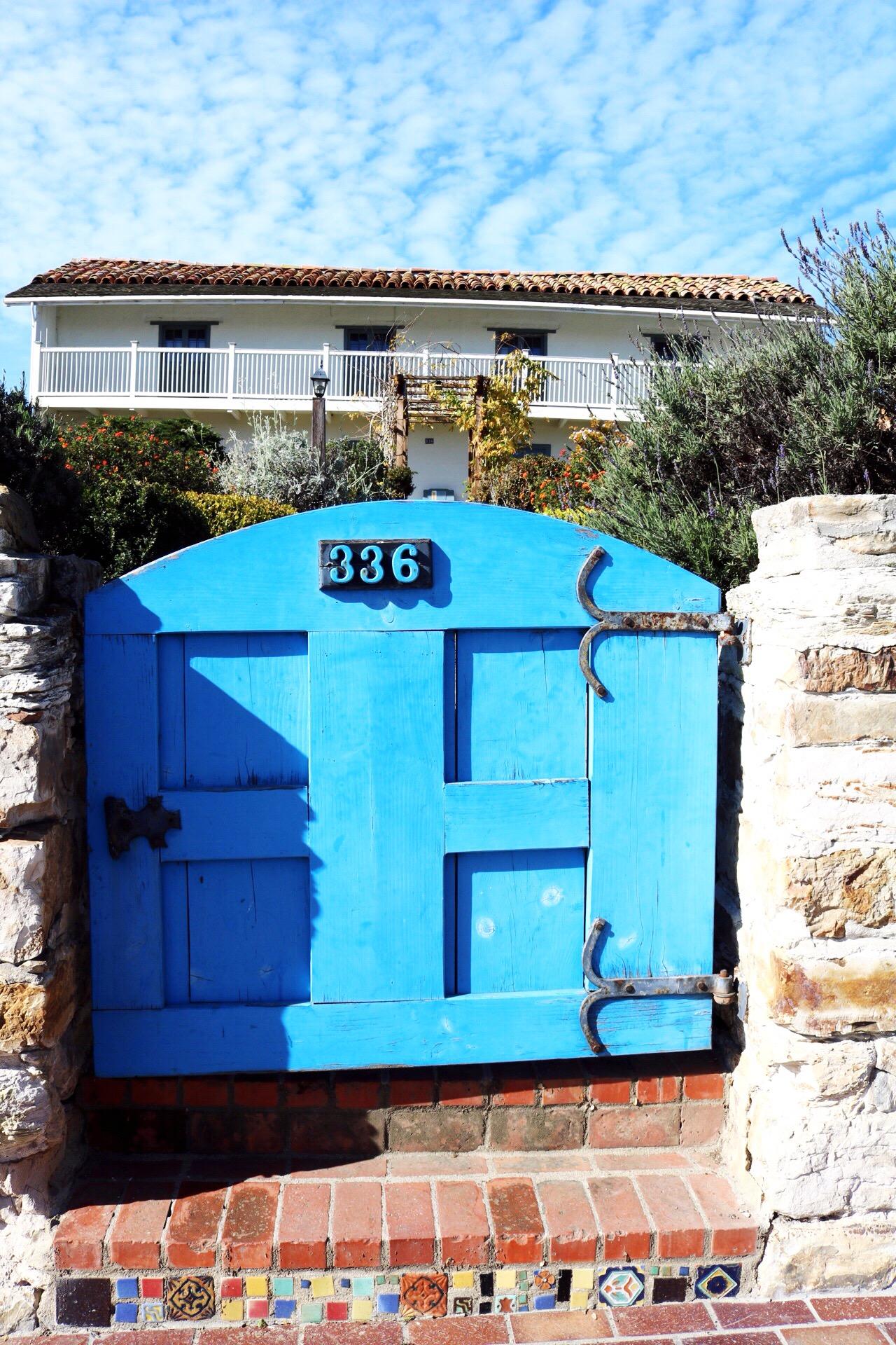 Monterey Beach blue door Casa Soberanes