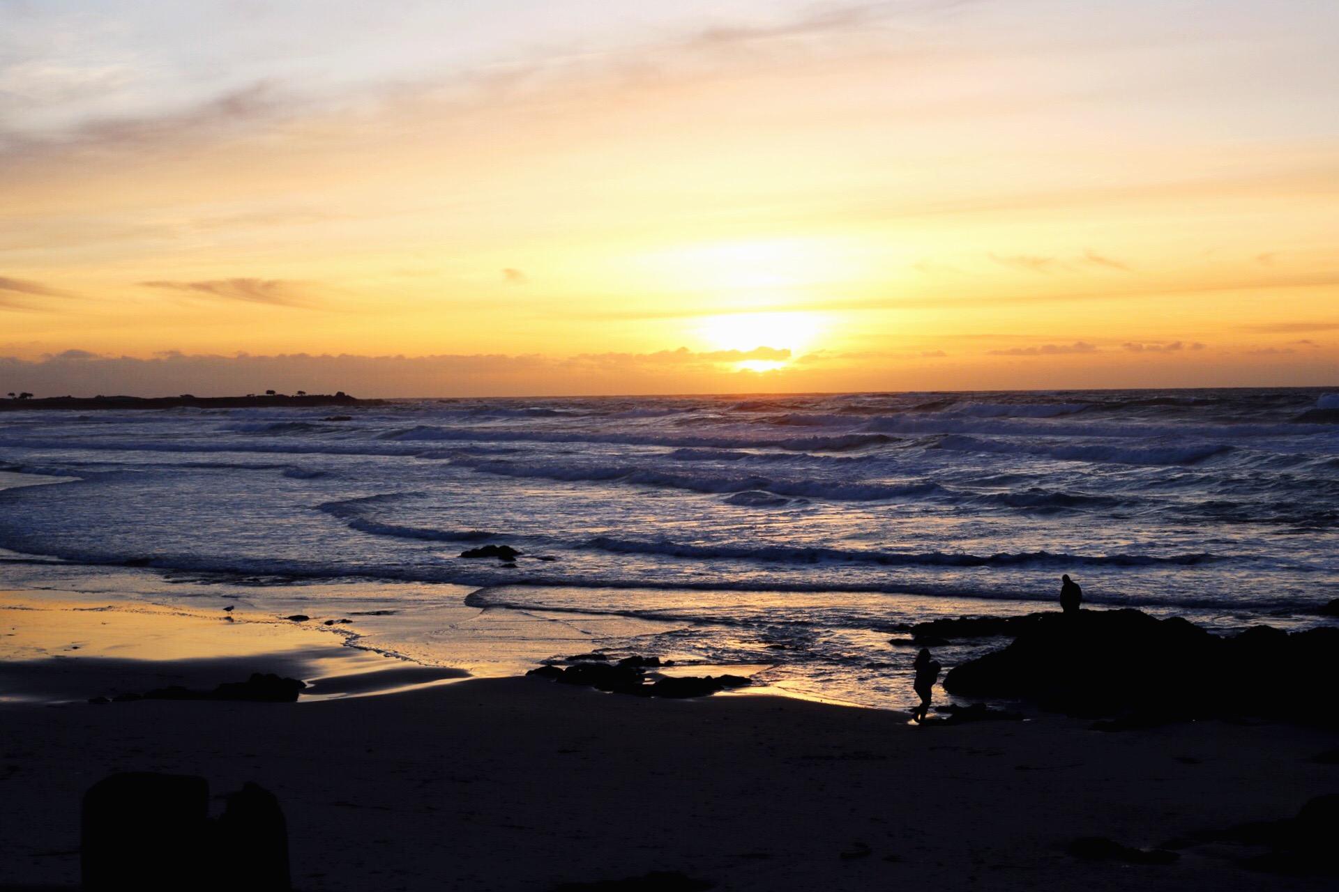 Lovers Point Park Monterey Beach California Beach Day Sunset