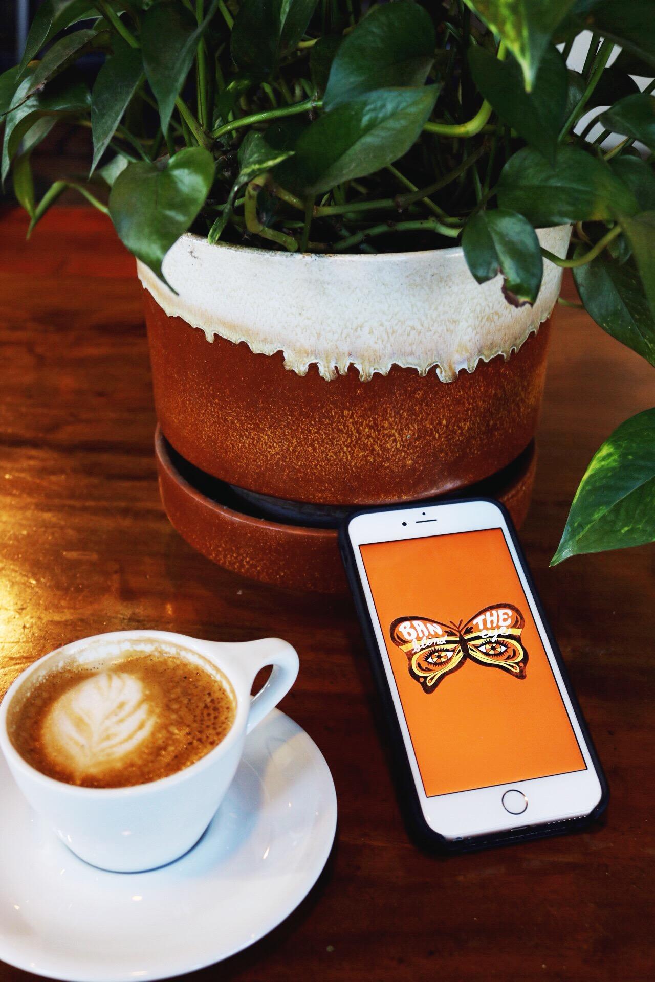 Dazey L.A. phone wallpaper feminist latte art coffee house