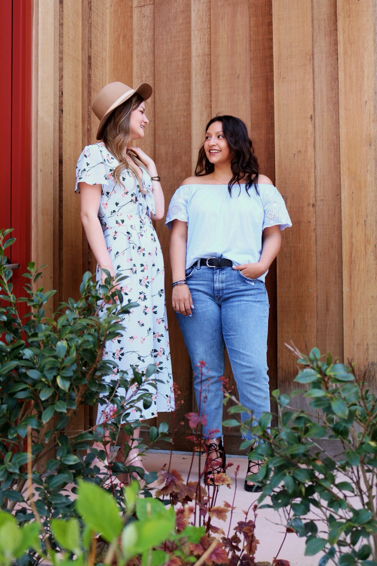 Floral jumpsuits and boyfriend jeans are outfit essentials for Springtime.