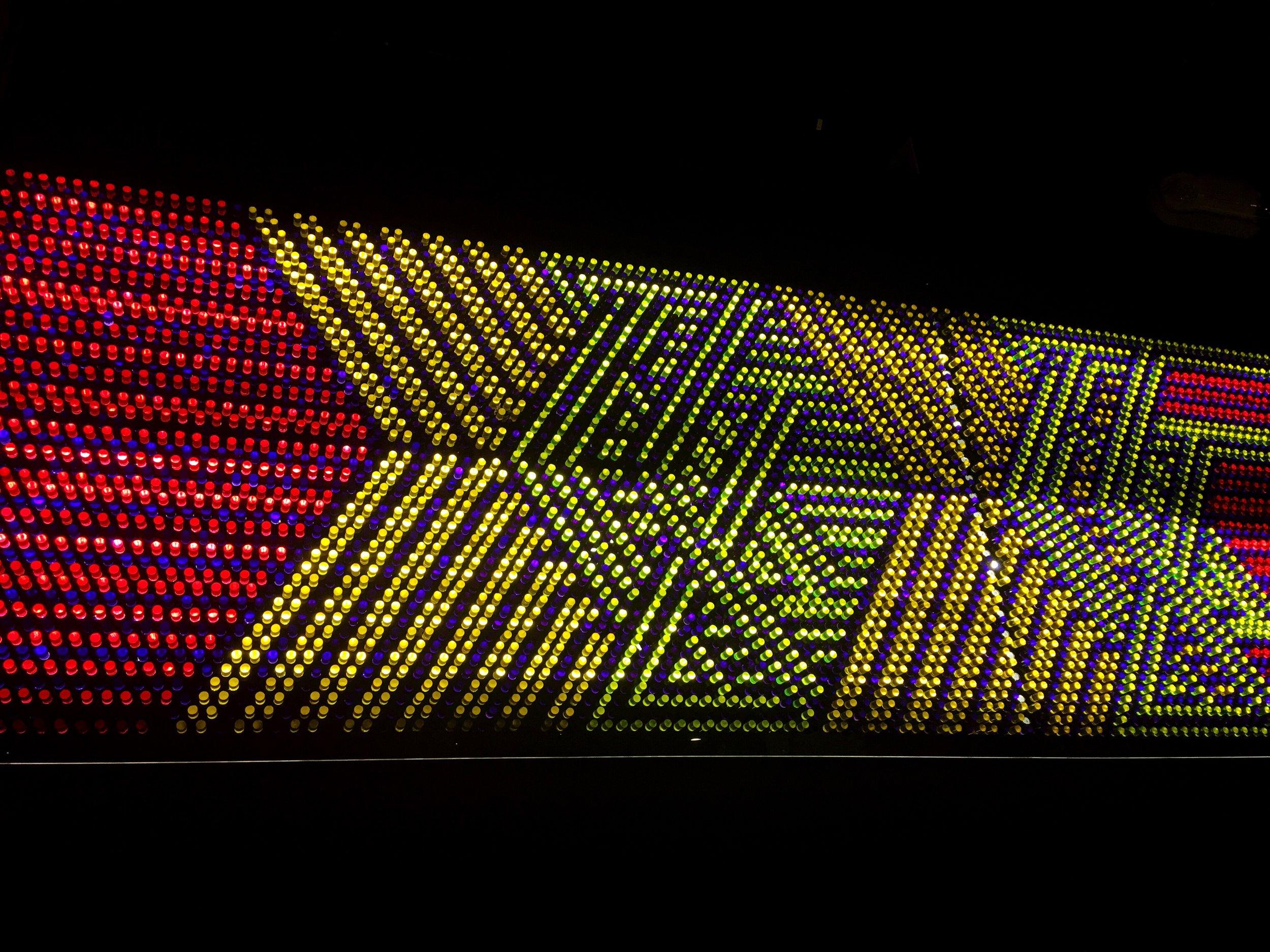 "Modern Times Beer ""The Dankness Dojo"" Light Bright wall art in Los Angeles"