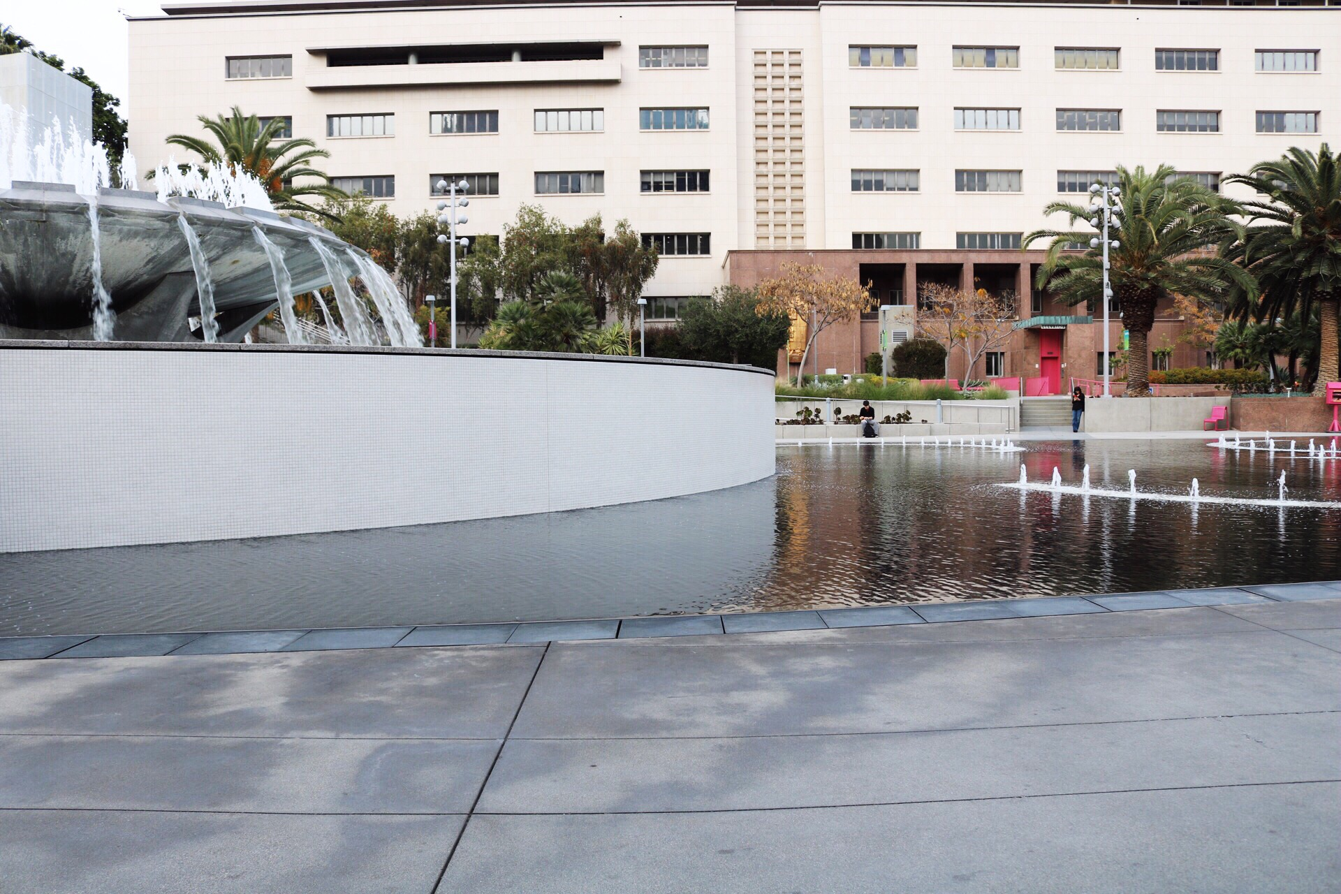 Grand Park Fountain in Downtown Los Angeles