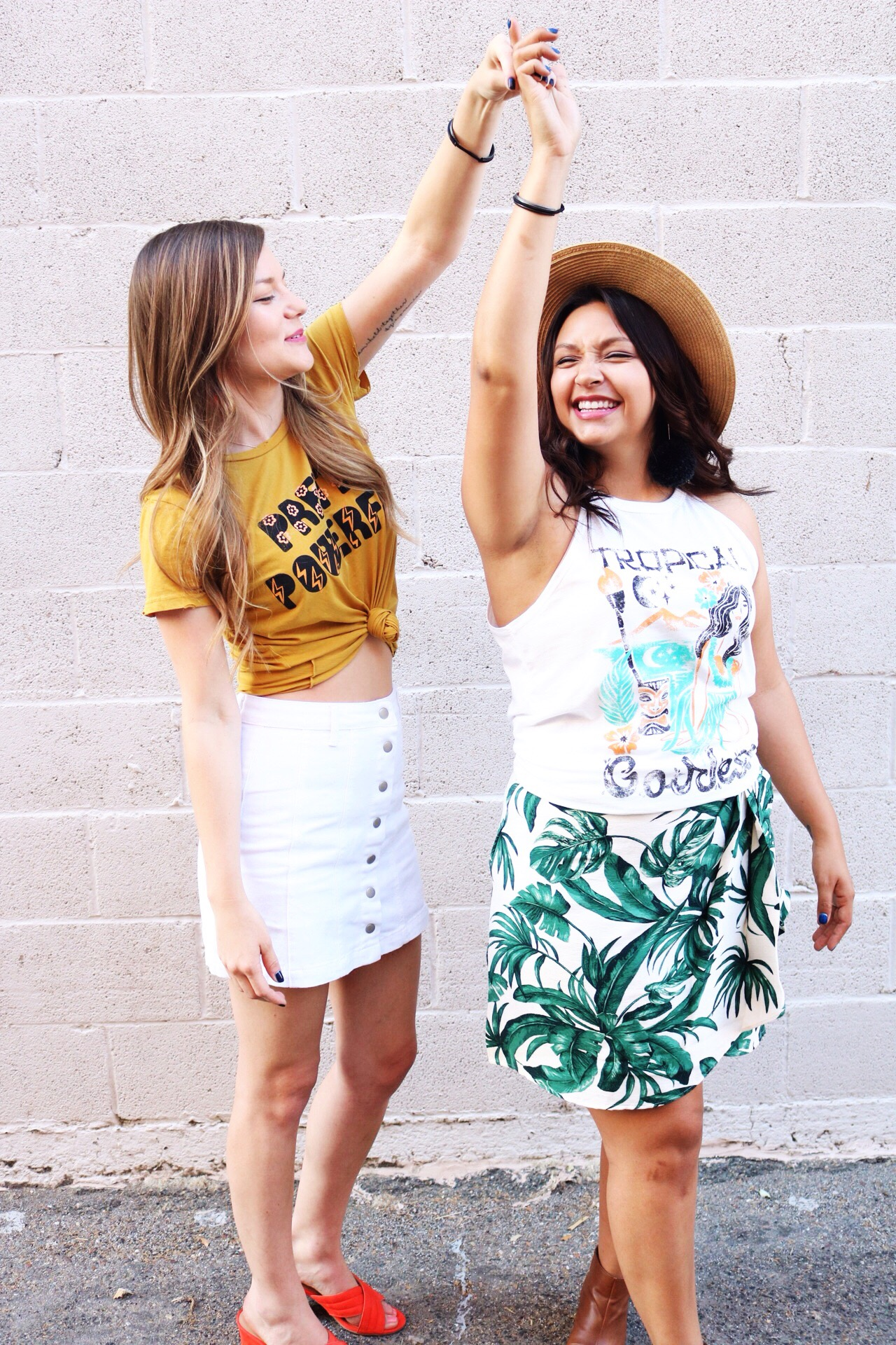 Summer Fashion inspired by Dazey L.A/ Tropical Goddess Tank and Pretty Powerful Tee