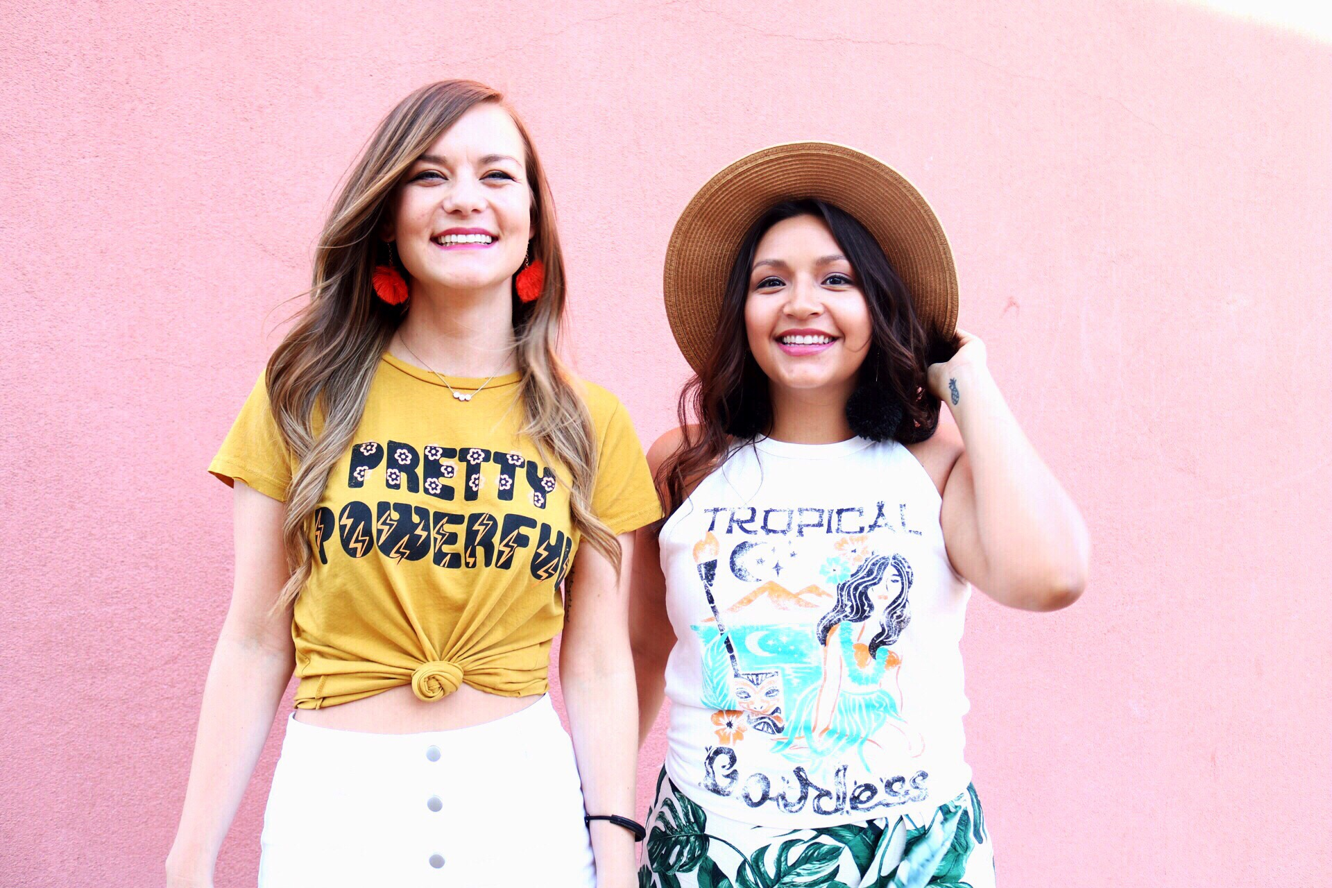 Pretty Powerful Tee/ Tropical Goddess Tank/ Graphic Tees by Dazey L.A.