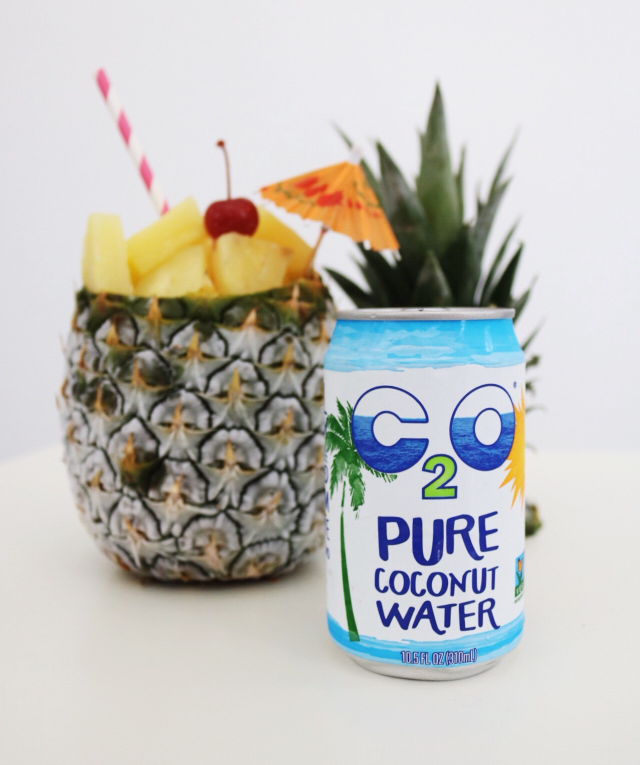 C20 Pure Coconut Water is refreshing, hydrating, and makes a great addition to a traditional piña colada!