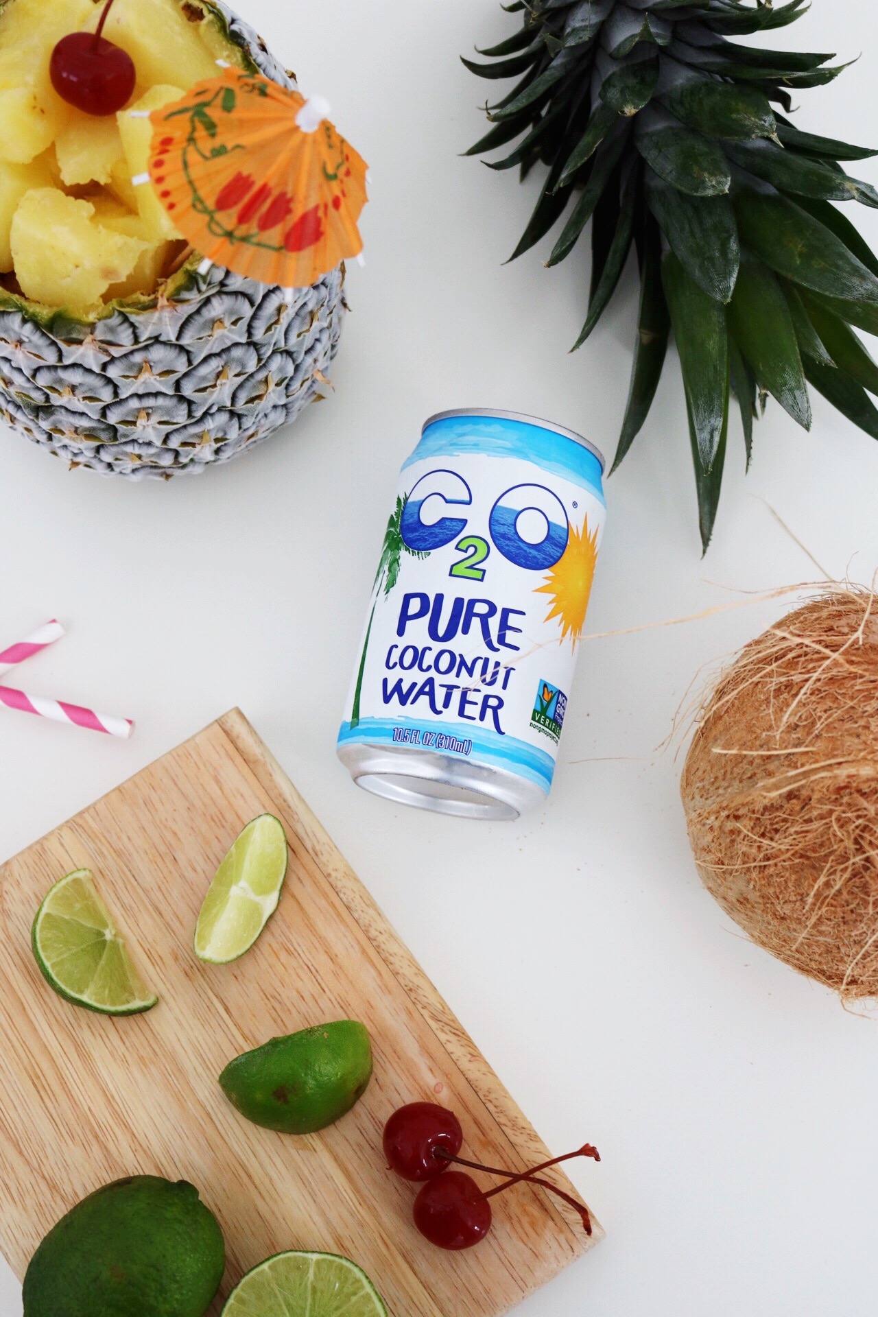 Take a spin on the classic piña colada recipe by adding coconut water instead of coconut milk!