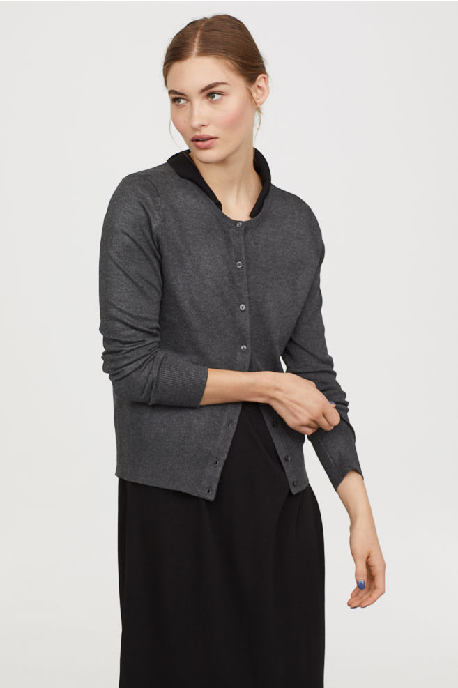 Dark Gray Cardigan $12.99