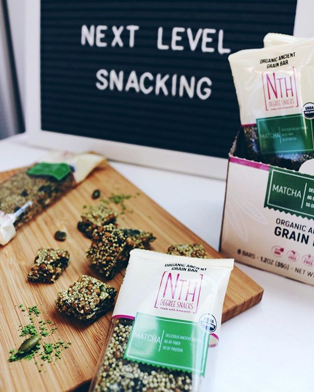 New year, new us! JK y'all are stuck with us OHBI gals because we believe in new year, make different choices to become a better versions of ourselves! Our friends @nthdegreesnacks have made it easy for us when it comes to making snacking choices! • They have a line of tasty and filling superfood snacks made with amaranth. Are you wondering what amaranth is?! It's a naturally gluten-free ancient grain that's a complete protein. They are certified organic and non-GMO and naturally gluten-free, nut-free, soy-free, dairy-free and egg-free. • We love that these organic matcha bars are delicious and an easy on-the-go snack option for our busy lives! Are you ready to take your snacking to the next level?! You can shop for Nth Degree Snacks at Amazon and via the link in our bio!  #hbtsp #hbtnthdegree #nthdegreesnacks #nextlevelsnacking