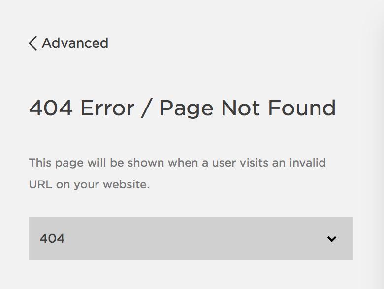 Squarespace Custom 404 Page