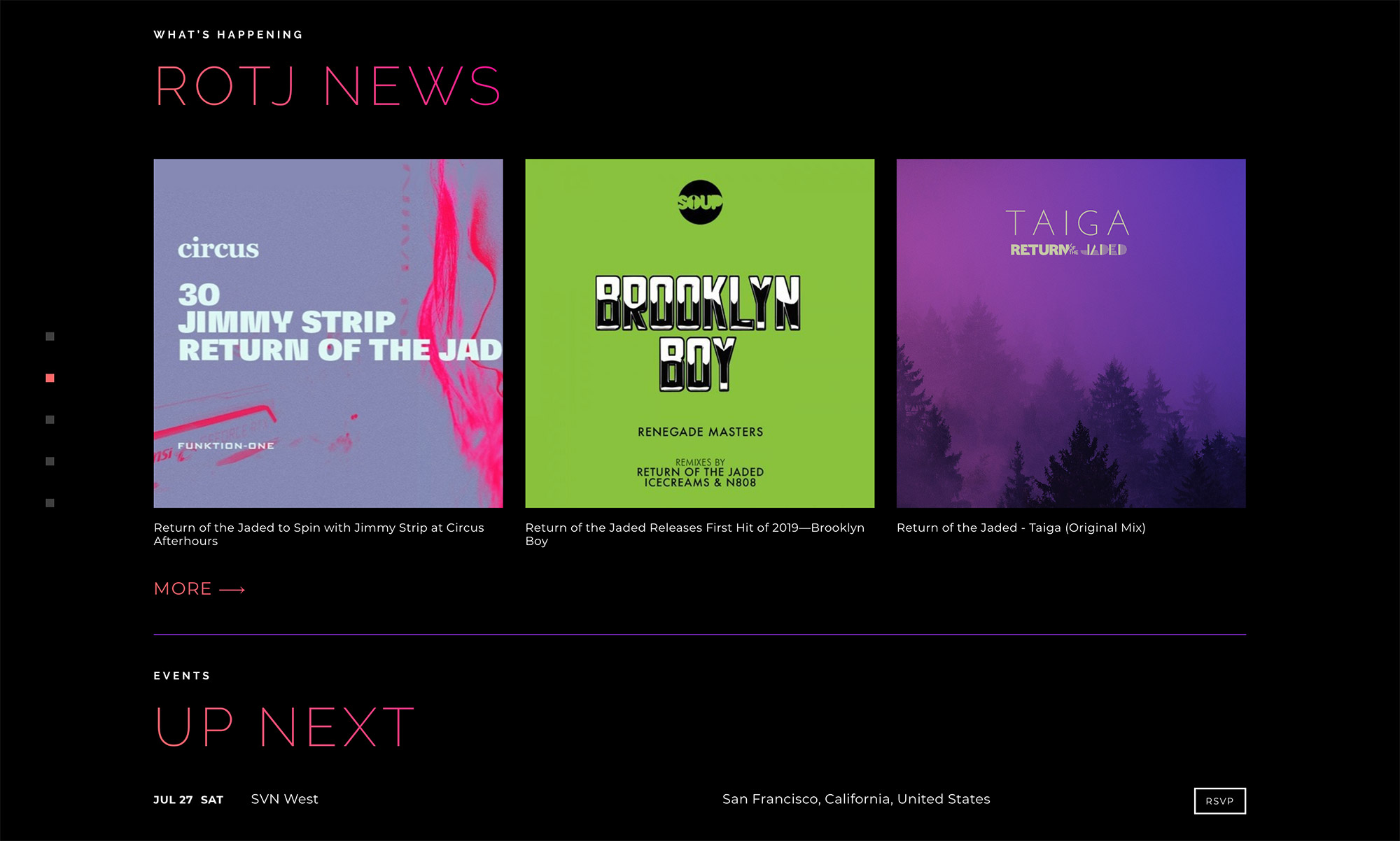 Websites for Music Artists and DJs