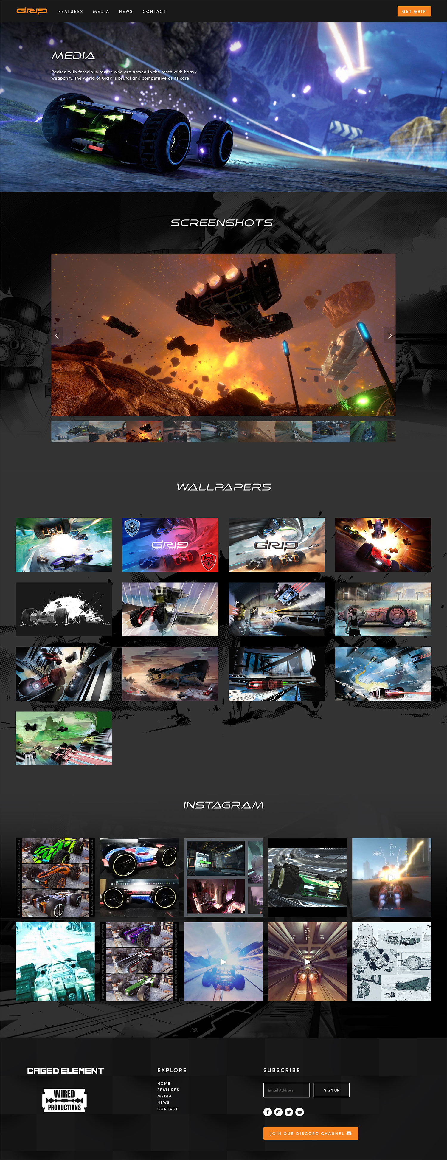 Minimalist Websites for Games