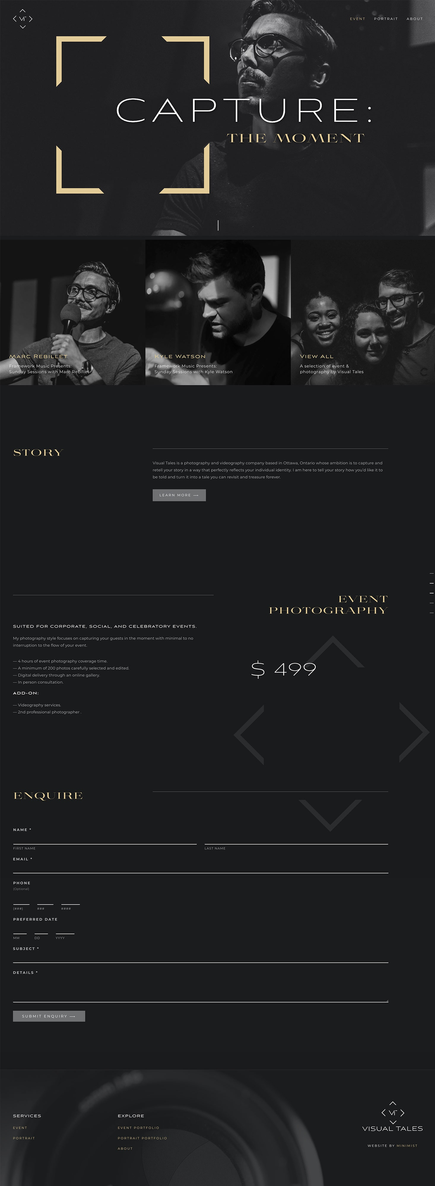 Minimalist Websites for Photographers
