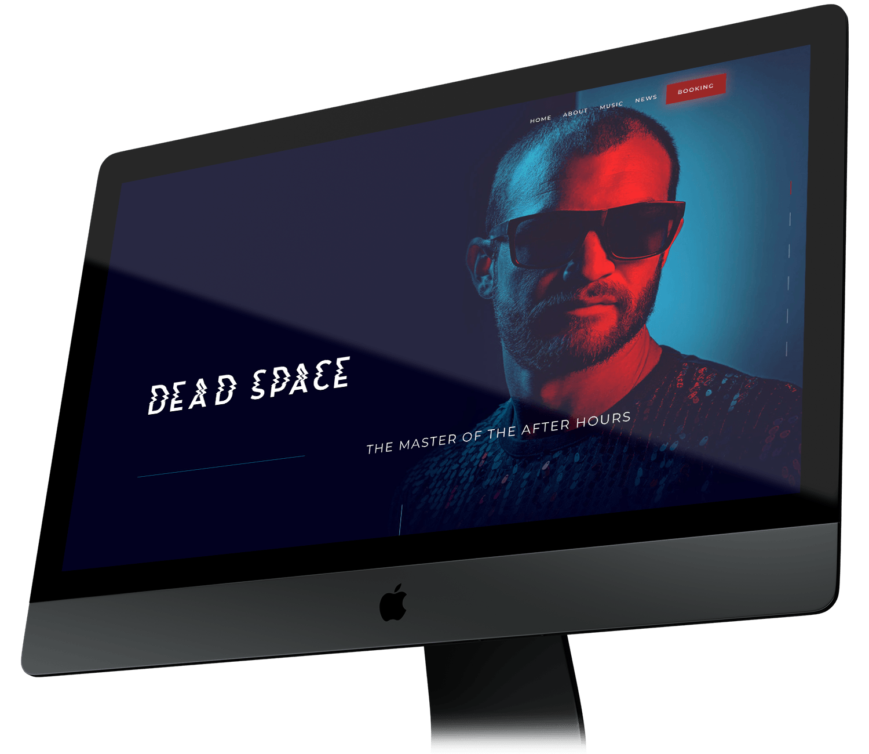 Dead Space Music   Minimalist Websites for Musicians & DJs