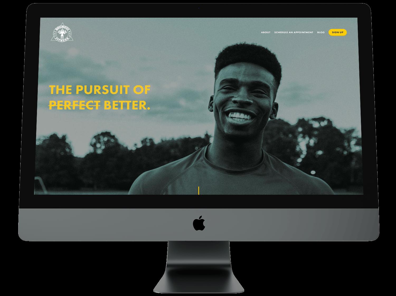 Minimal Websites for Fitness & Wellness