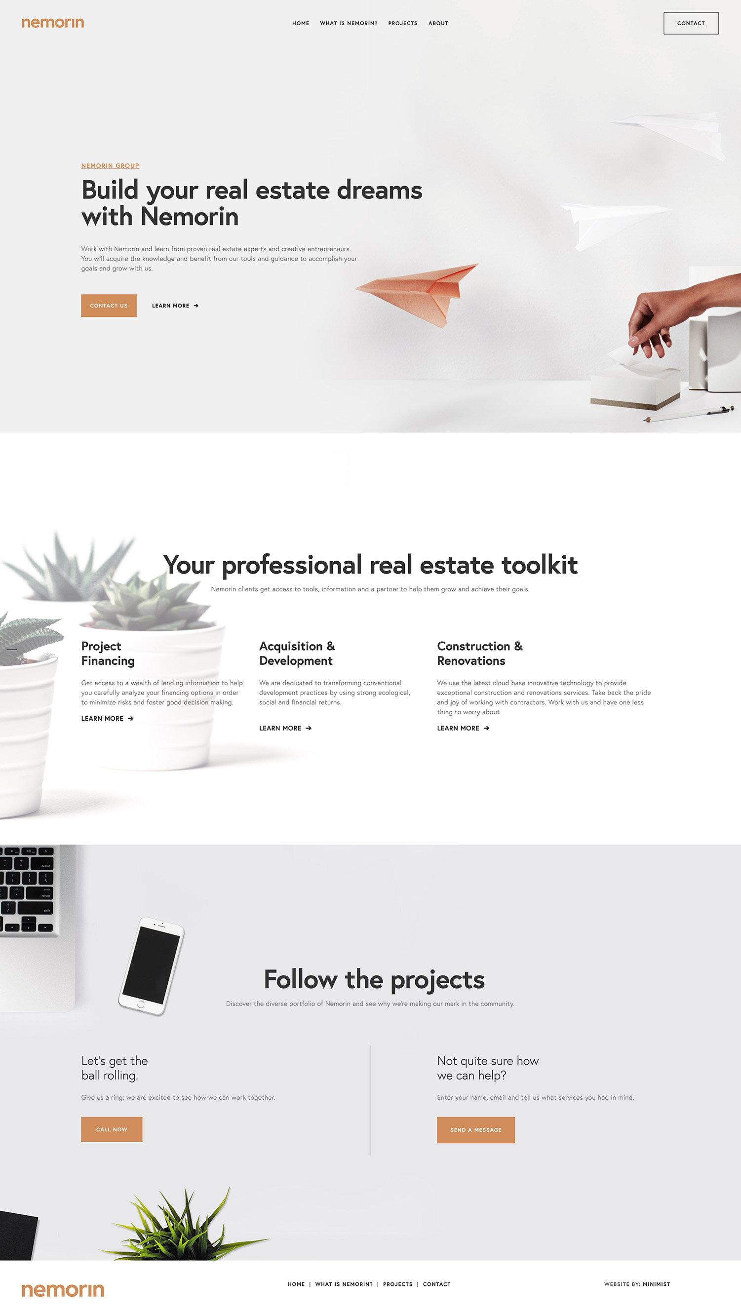 Websites for Real Estate & Construction