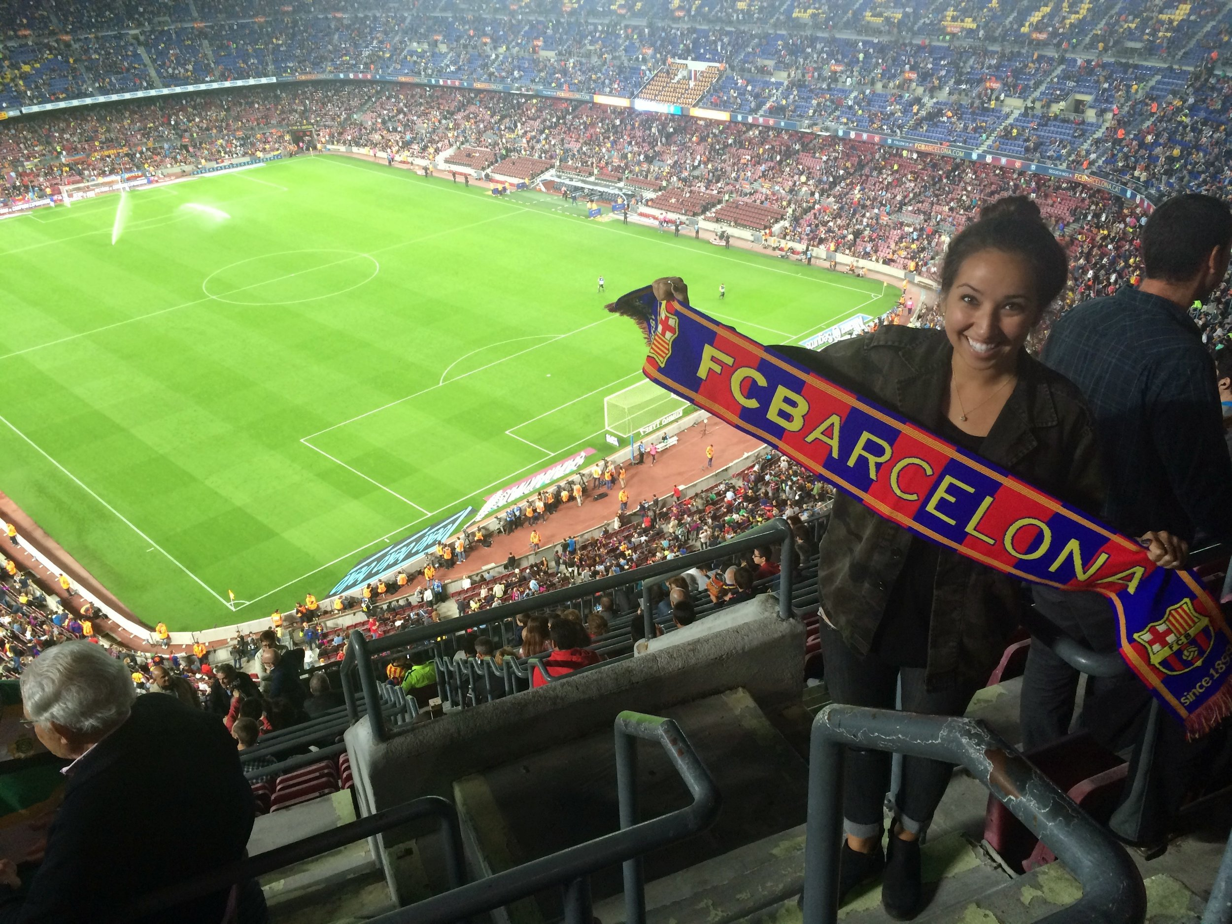At Camp Nou in Barcelona seeing my baby Messi play