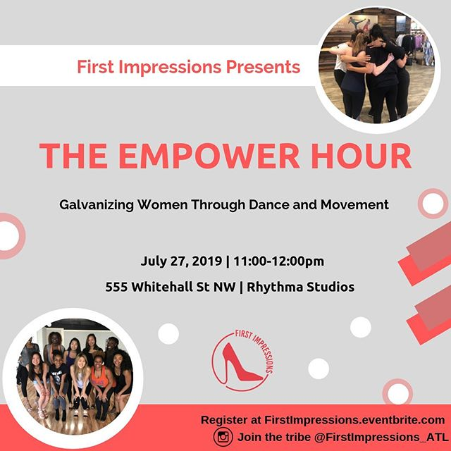 Hey QUEENS! 👑❤️👑 . . Join us for our summer Empower Hour on Saturday, July 27, 11-12pm! 💃🏽💃🏿💃🏼💃🏿💃🏽 . . 💕Leave your inhibitions and insecurities at the door and come dance the morning away! This session is for the everyday woman who wants to take sometime for herself to focus on self care and give her body and mind a little uplifting and revitalizing. ✨Expect fun, sassy and easy to learn dance moves ✨ Affirmations and encouraging dialogue ✨Wear athletics clothing and your fave pair of dancing shoes (sneakers or heels) ✨ Bring your tribe and the good vibezzz! . . #girlpower #ladybosses #femaleempowerment #herstory #dance #atl #mentalwellness #physicalwellness #tribevibes #selfcare #hotgirlsummer