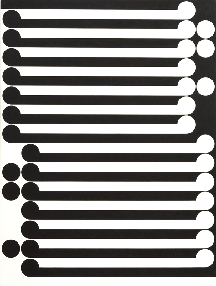 Untitled, 1978  P.V.A. and acrylic on canvas, 1500 x 1200mm. Courtesy of the Walters Estate.