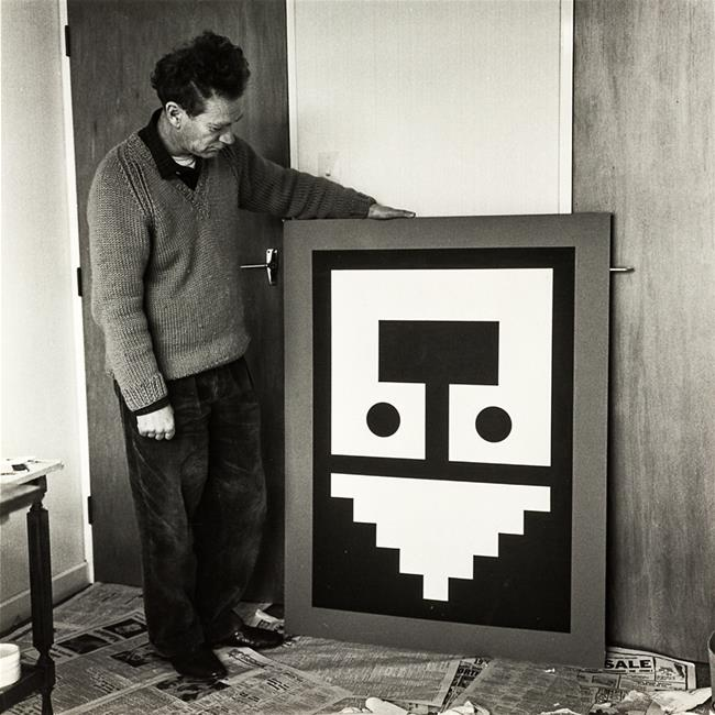 Gordon Walters, Wellington, 1965. Photograph Margaret Orbell (attributed)