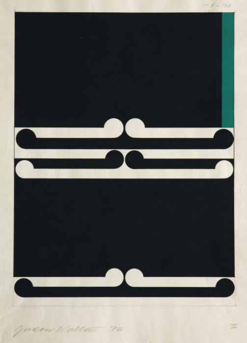 Chartwell Collection, Auckland Art Gallery Toi o Tamaki, New Zealand        Image credit:   Gordon Walters   Untitled ,   197 3 Gouache   on paper   310 x 235 mm